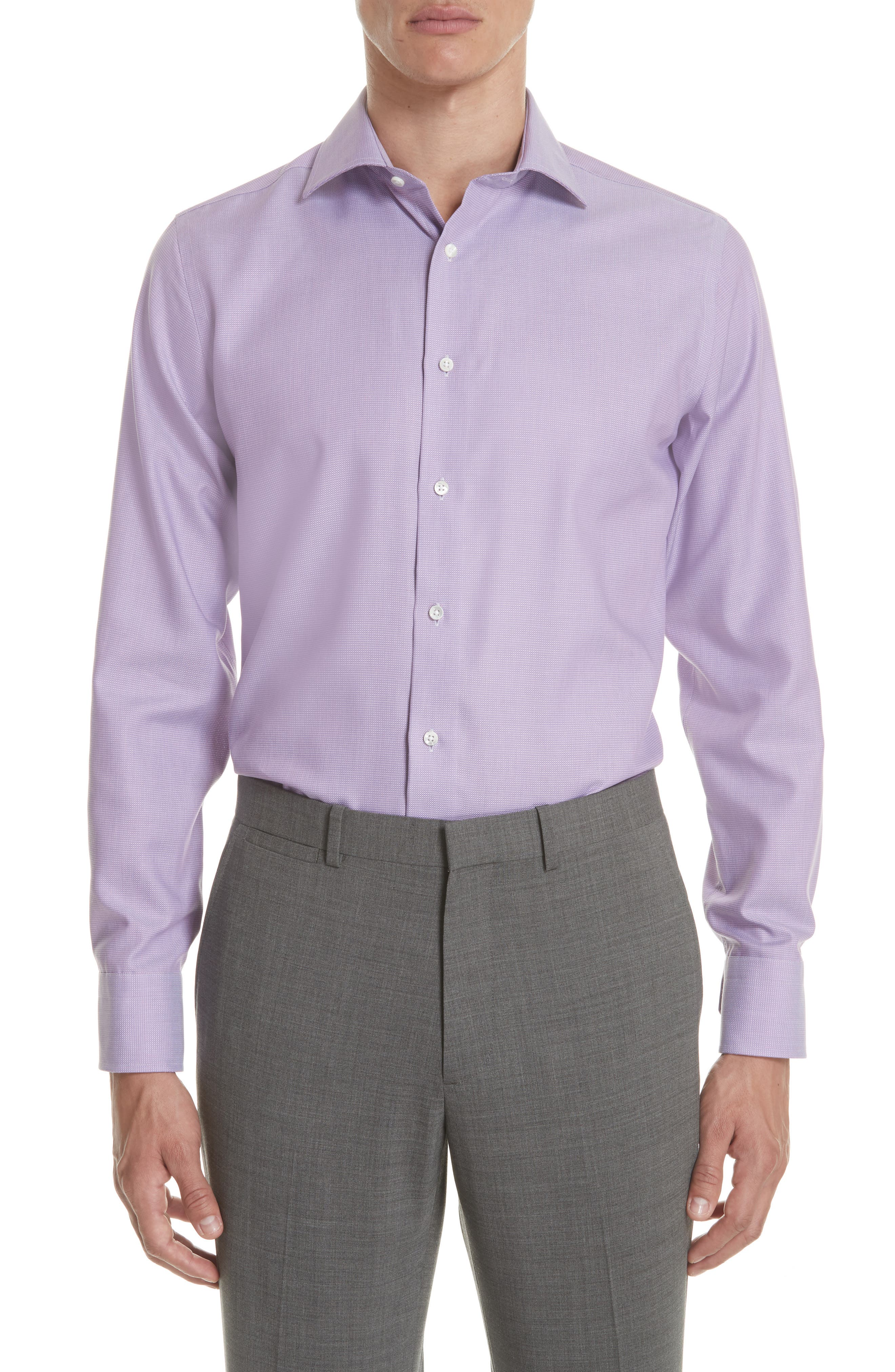 Regular Fit Solid Dress Shirt,                         Main,                         color, 520