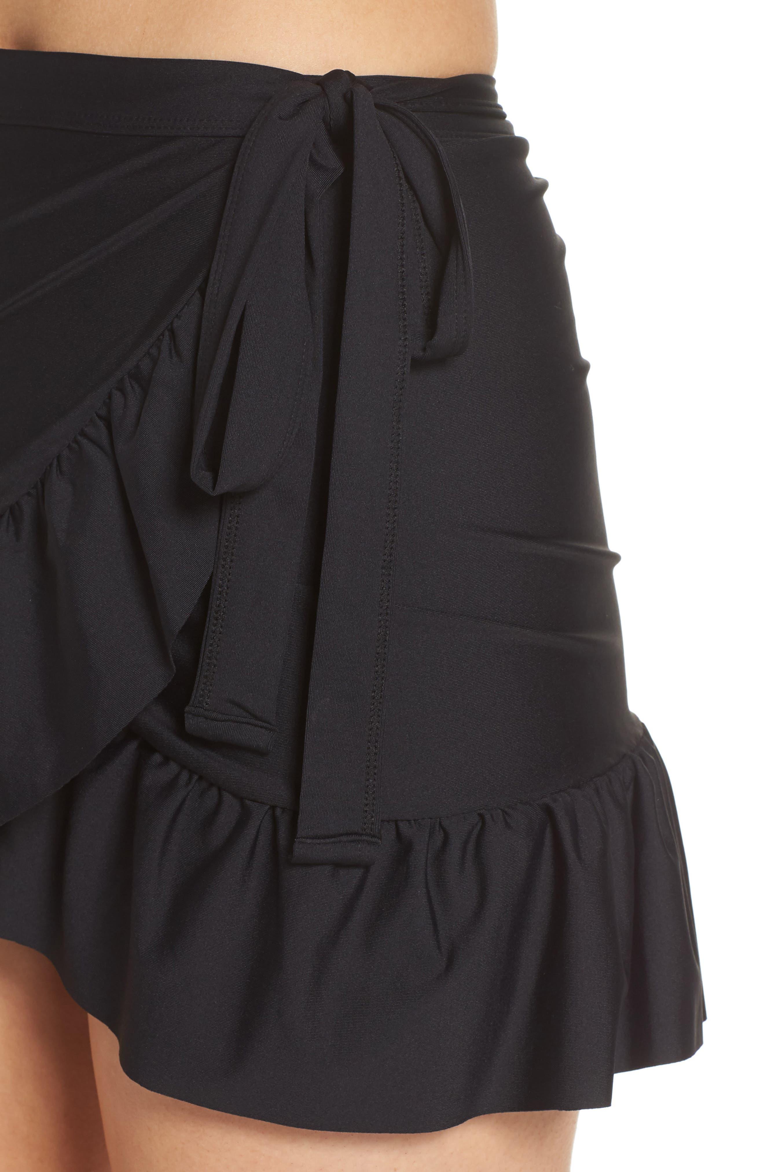 J.CREW,                             Cover-Up Wrap Skirt,                             Alternate thumbnail 4, color,                             001