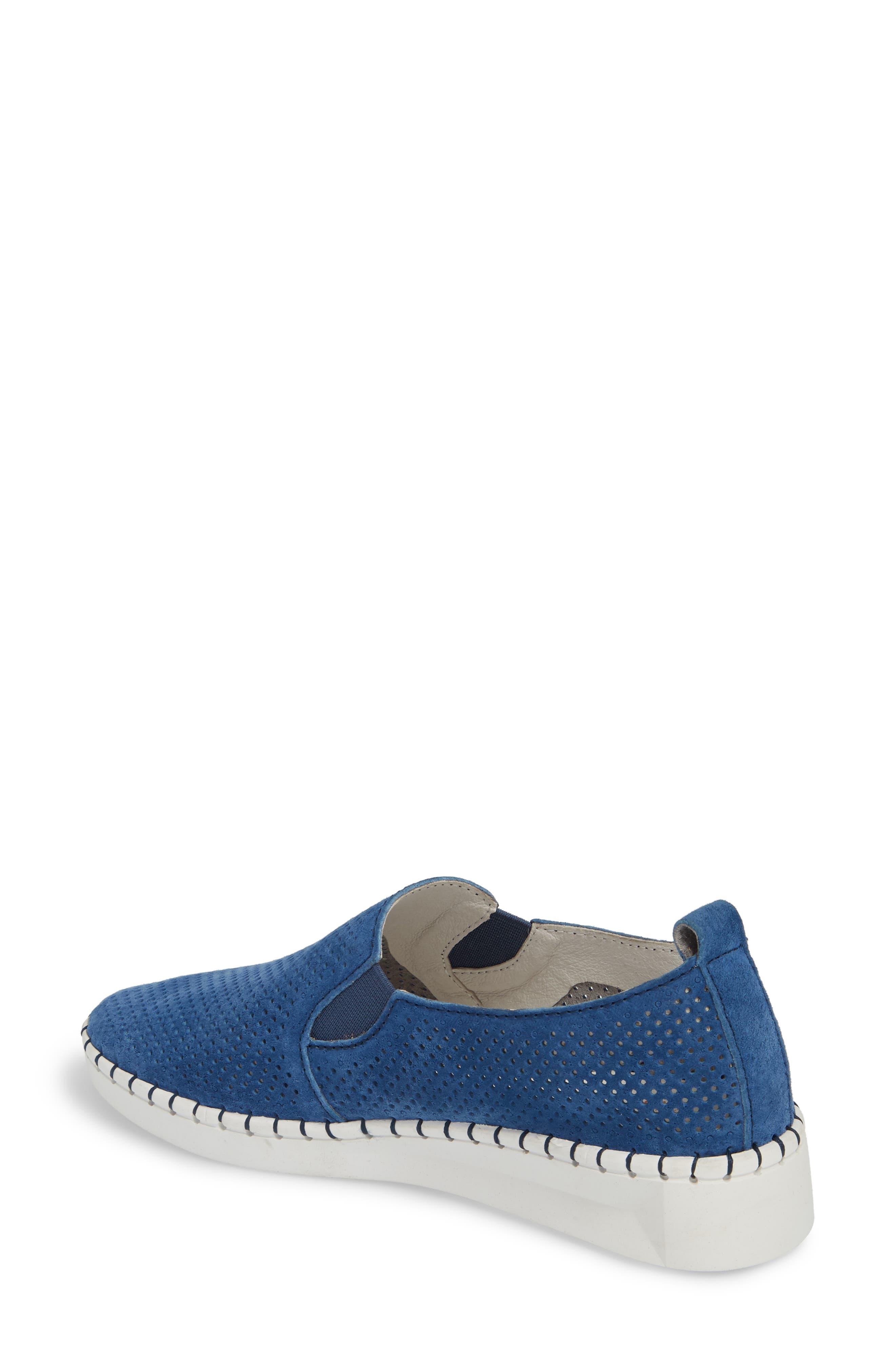 Slip-On Sneaker,                             Alternate thumbnail 2, color,                             BLUE LEATHER