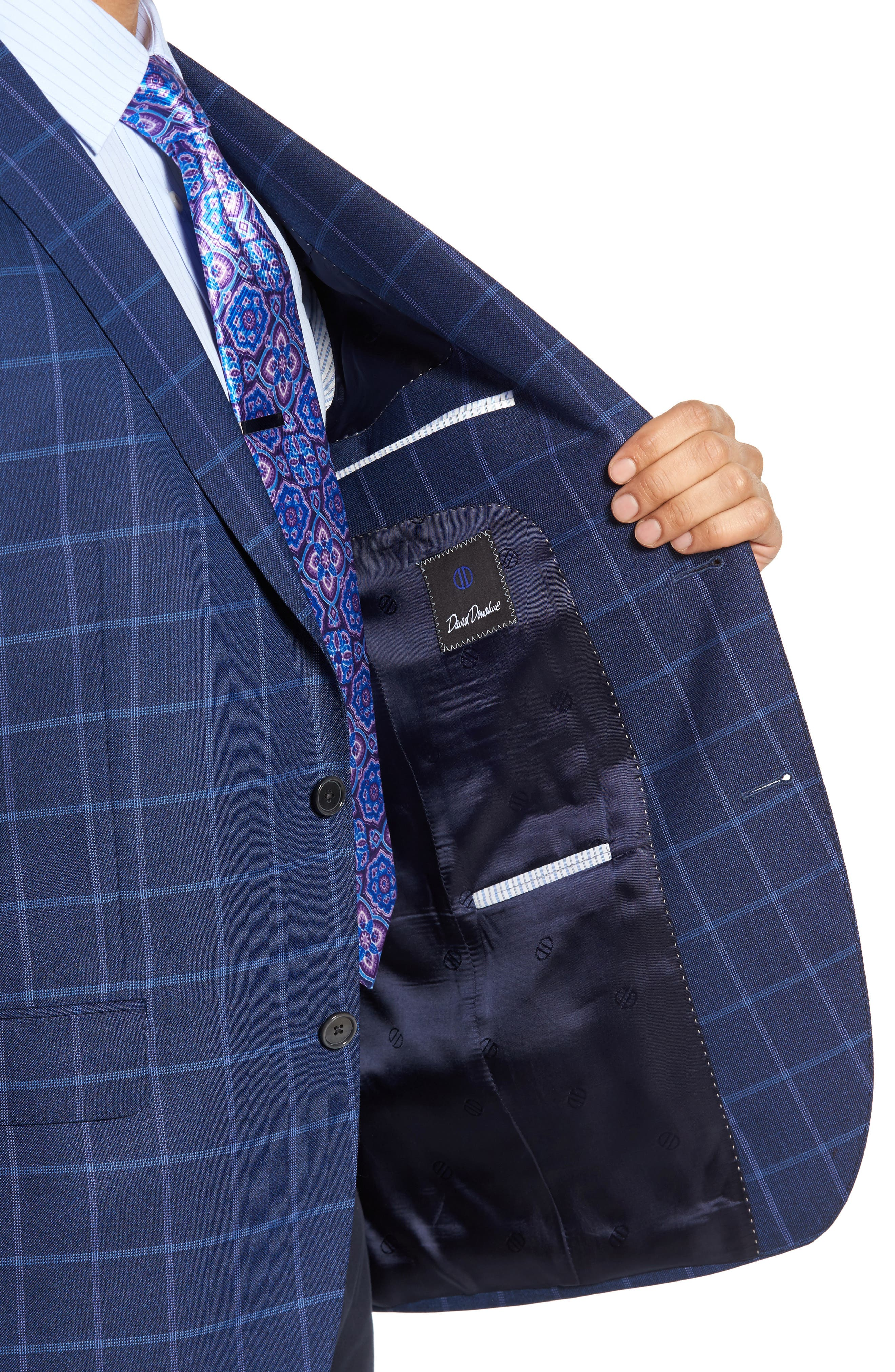 Connor Classic Fit Windowpane Wool Sport Coat,                             Alternate thumbnail 4, color,                             420