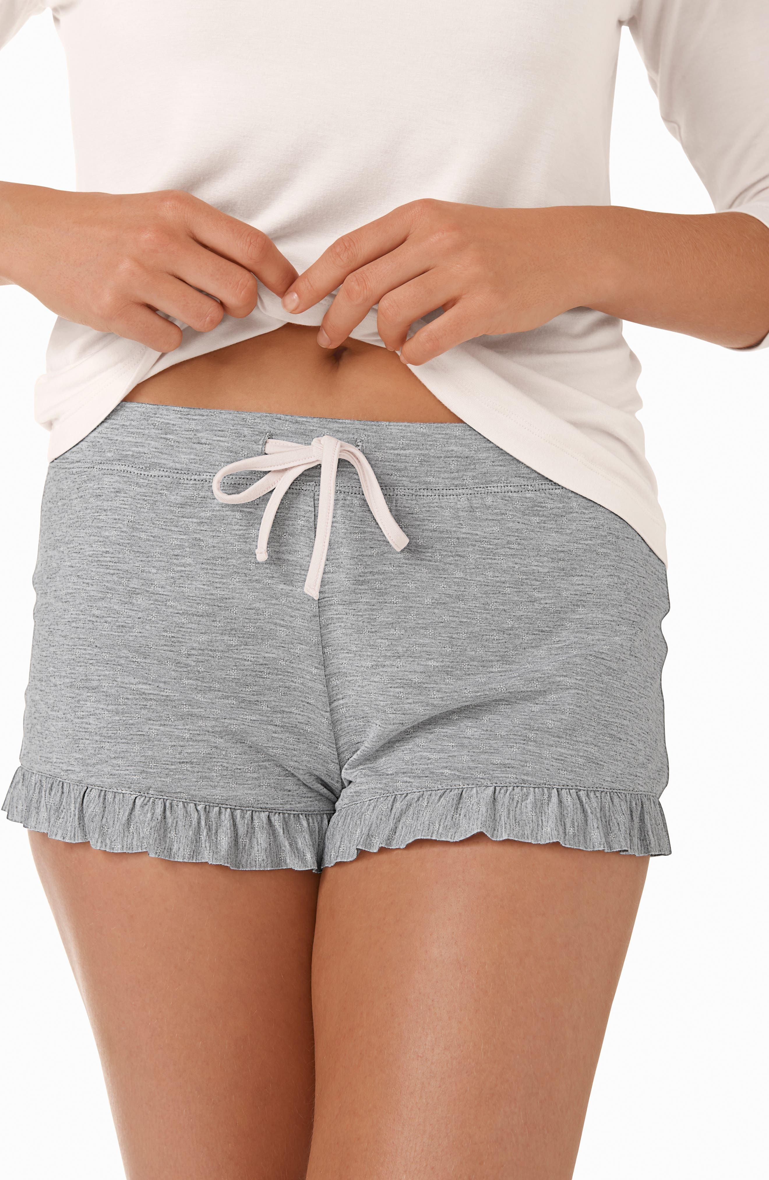 Foulard Star Two Piece Pajamas,                             Alternate thumbnail 4, color,                             PINK/ GREY / WHITE
