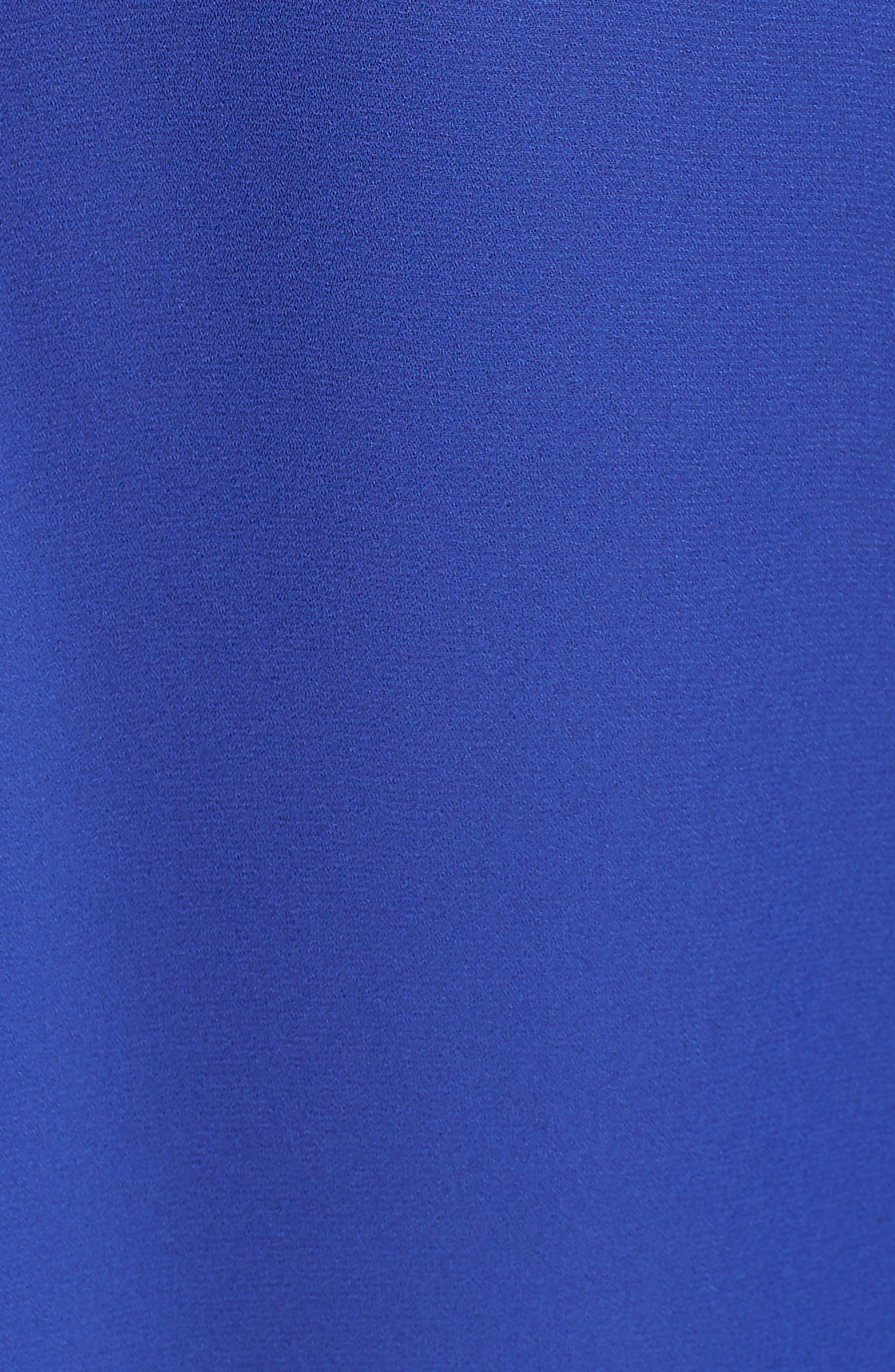 Cutout Surplice Top,                             Alternate thumbnail 5, color,                             BLUE CLEMATIS
