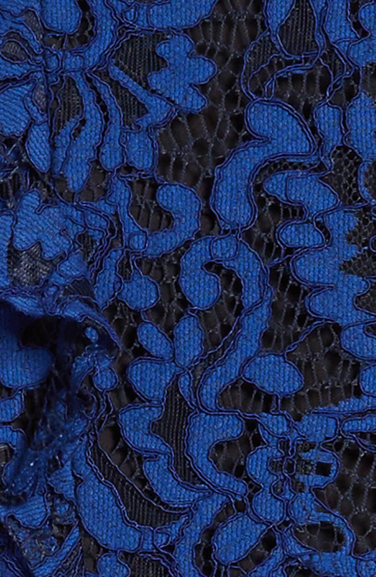 Ruffle Lace Cold Shoulder Dress,                             Alternate thumbnail 3, color,                             412