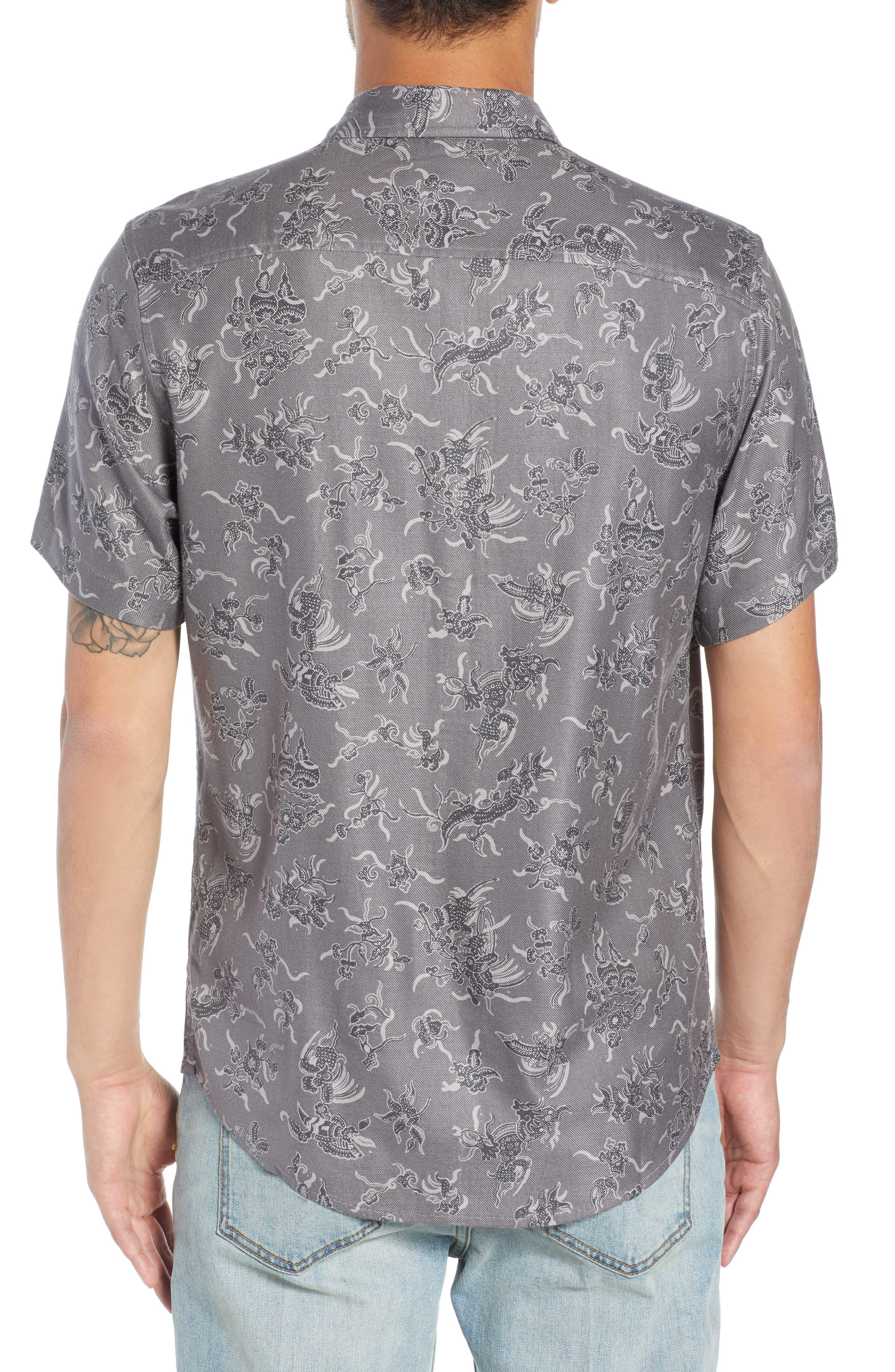 Trim Fit Print Sport Shirt,                             Alternate thumbnail 2, color,                             030