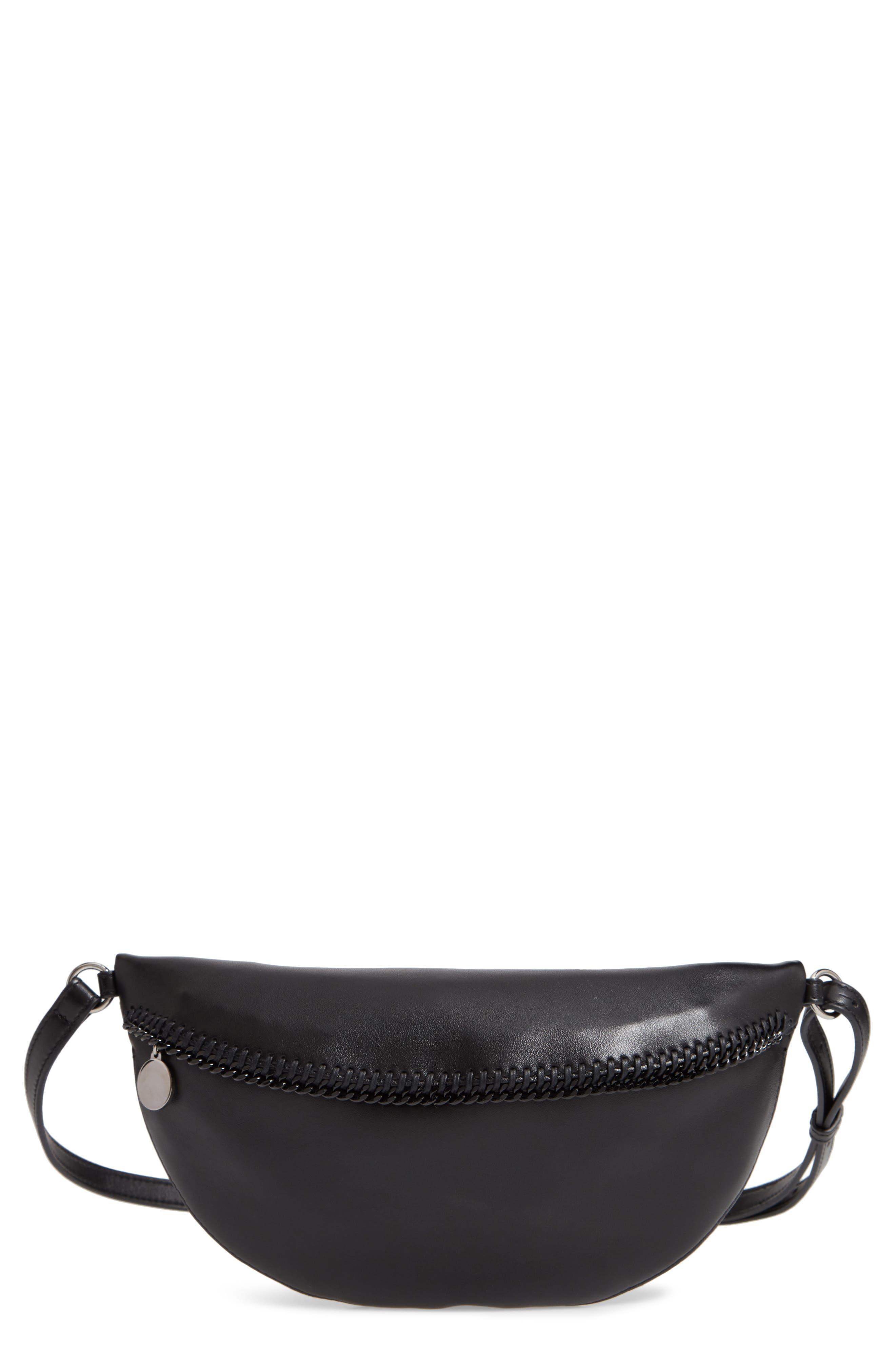 Chain Trim Bum Bag,                             Main thumbnail 1, color,                             BLACK