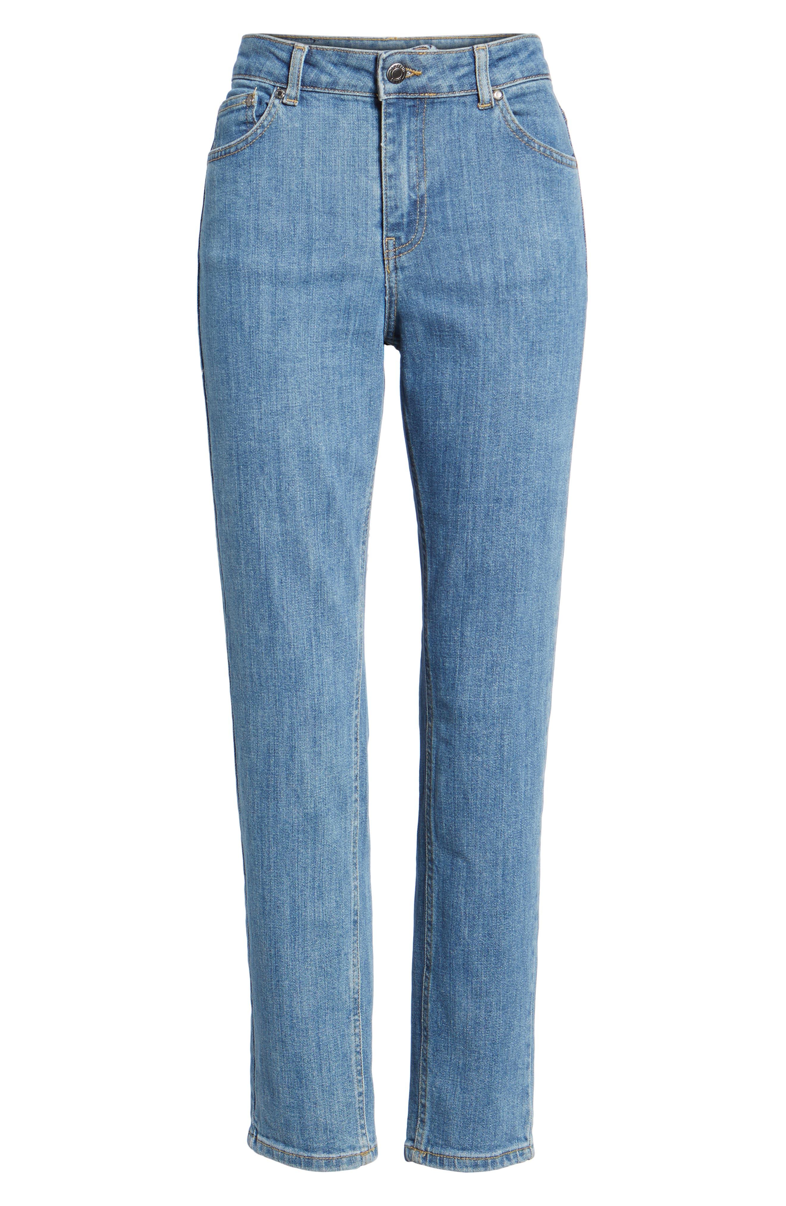 Edie High Waist Crop Jeans,                             Alternate thumbnail 7, color,                             400