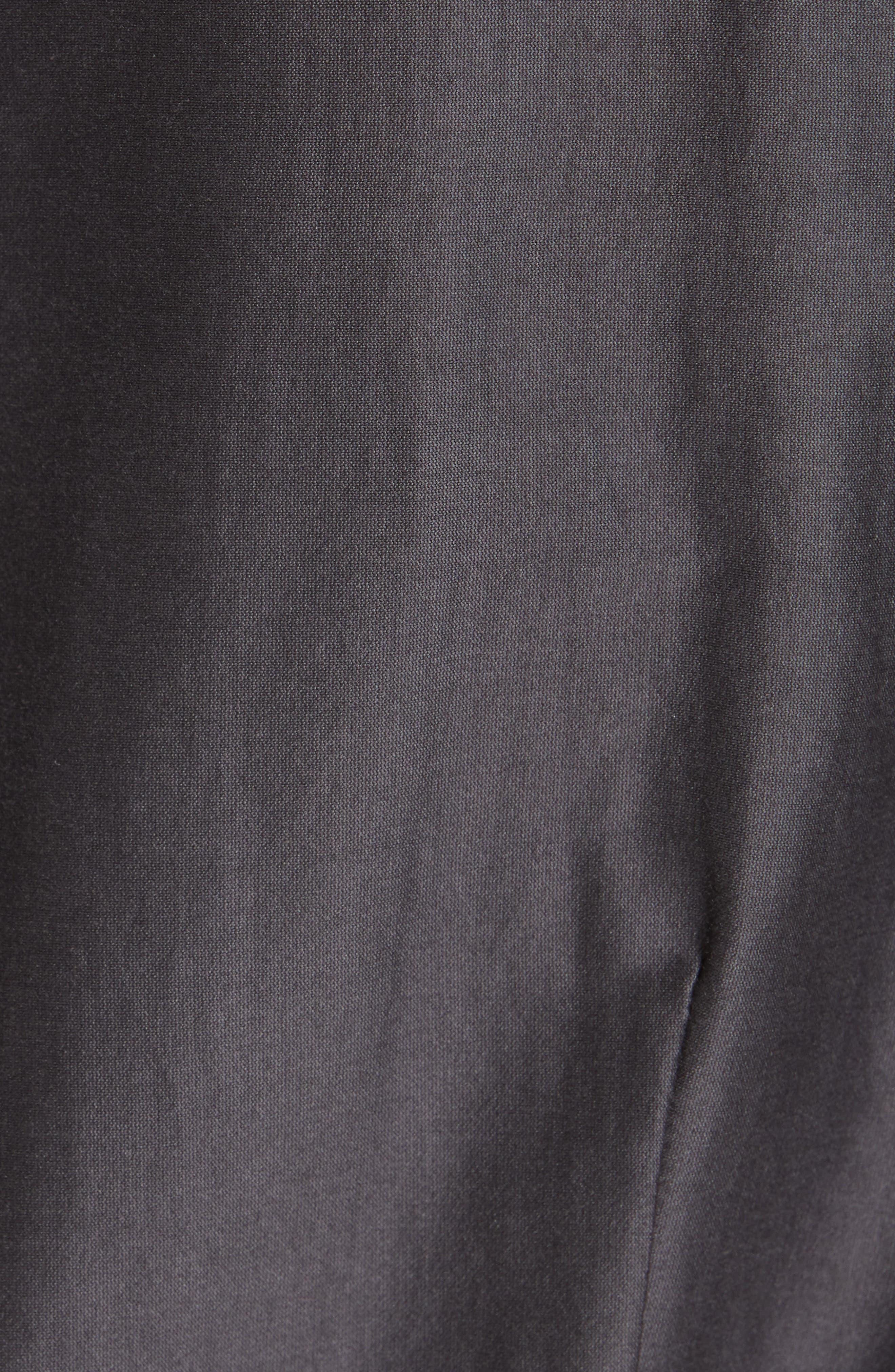 RICK OWENS,                             Limo Cotton & Silk Wrap Dress,                             Alternate thumbnail 6, color,                             BLUE JAY
