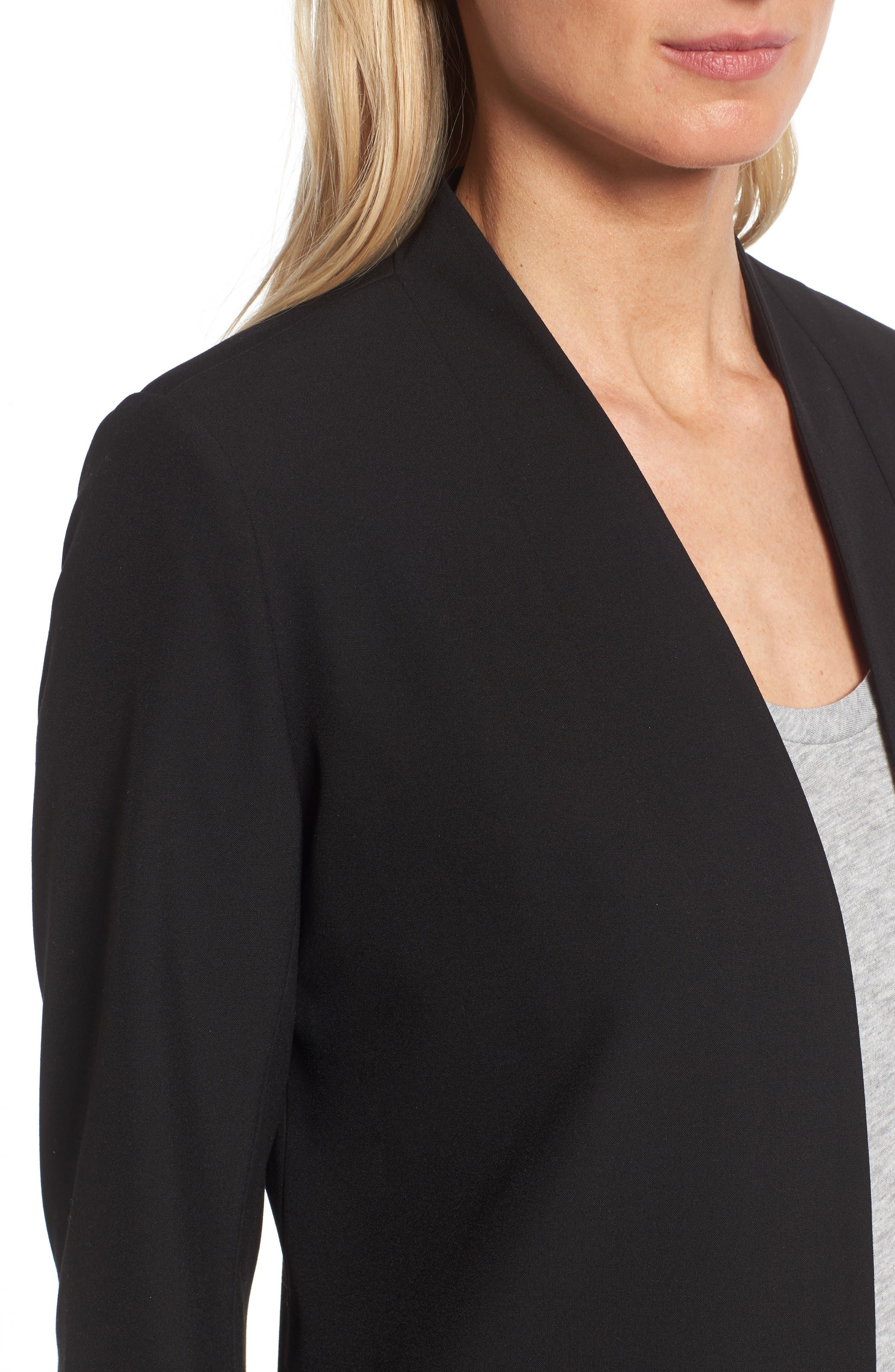 No-Closure Blazer,                             Alternate thumbnail 4, color,                             001