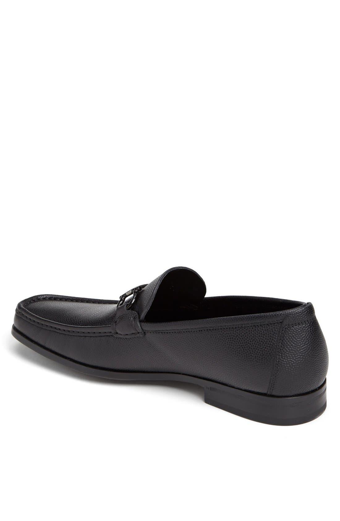 'Regal' Pebbled Leather Loafer,                             Alternate thumbnail 2, color,                             001