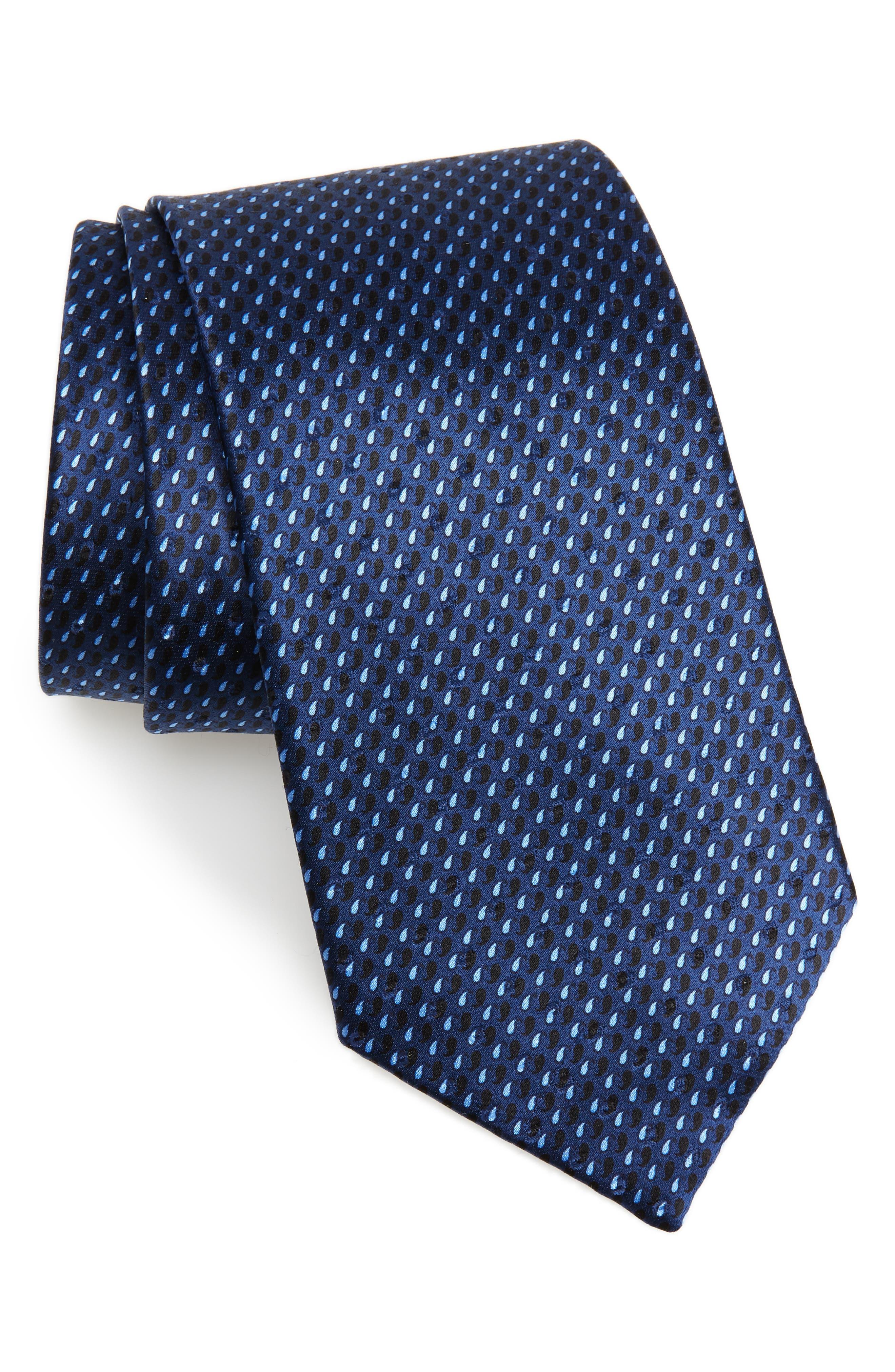 ERMENEGILDO ZEGNA,                             Paisley Silk Tie,                             Main thumbnail 1, color,                             400