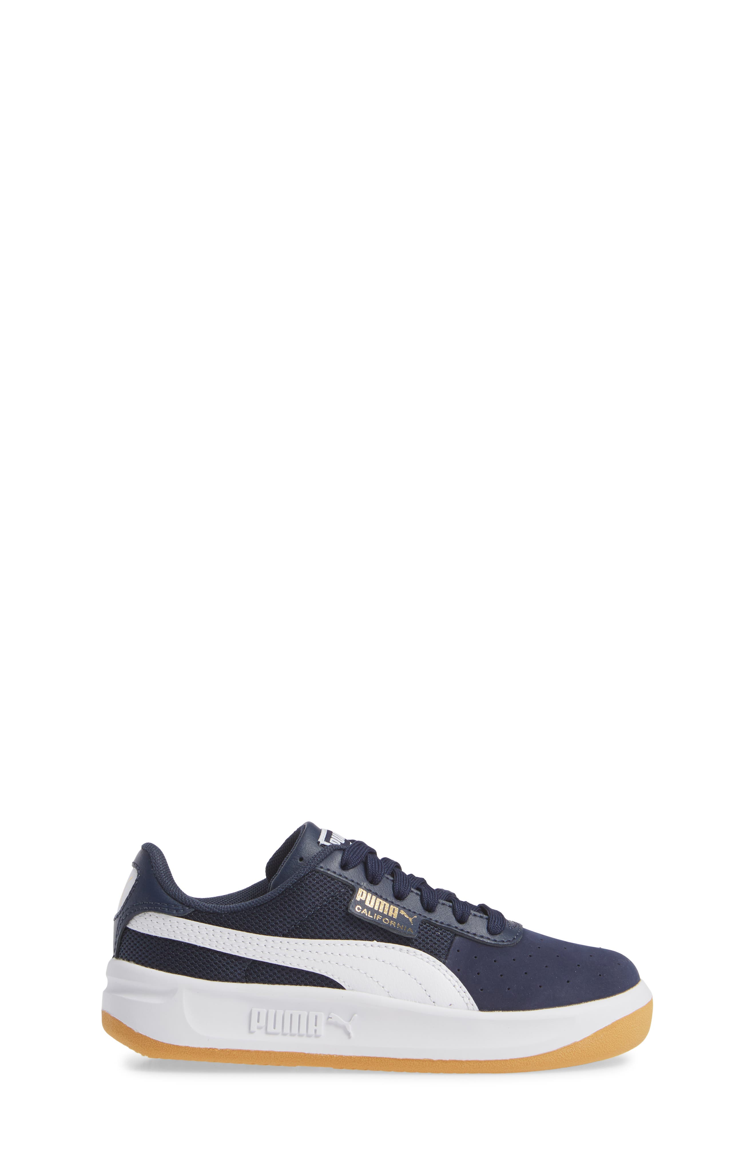 California Casual Jr. Sneaker,                             Alternate thumbnail 3, color,                             PEACOAT-PUMA WHITE-GOLD
