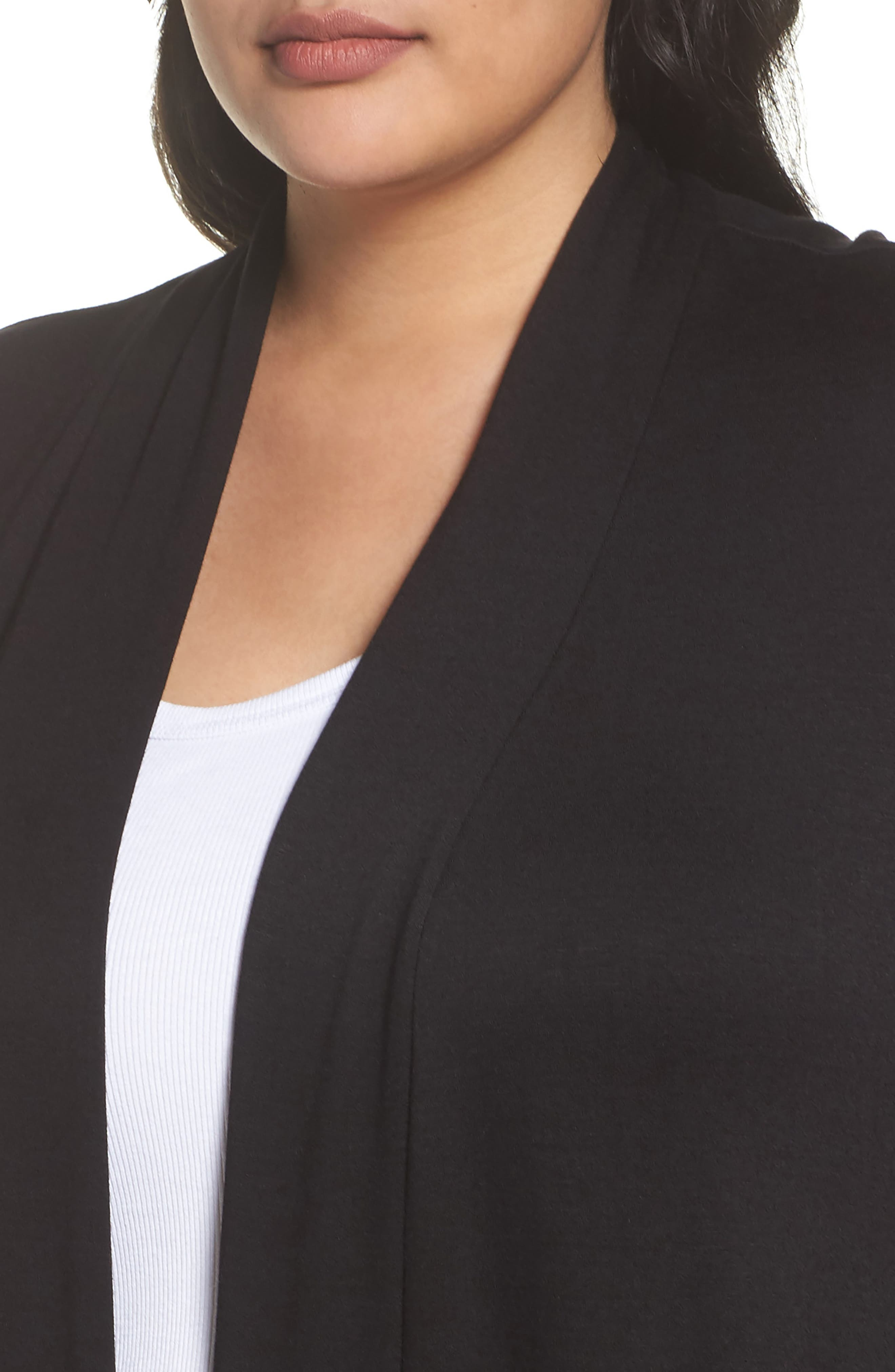 Two-Pocket Stretch Cardigan,                             Alternate thumbnail 4, color,                             001