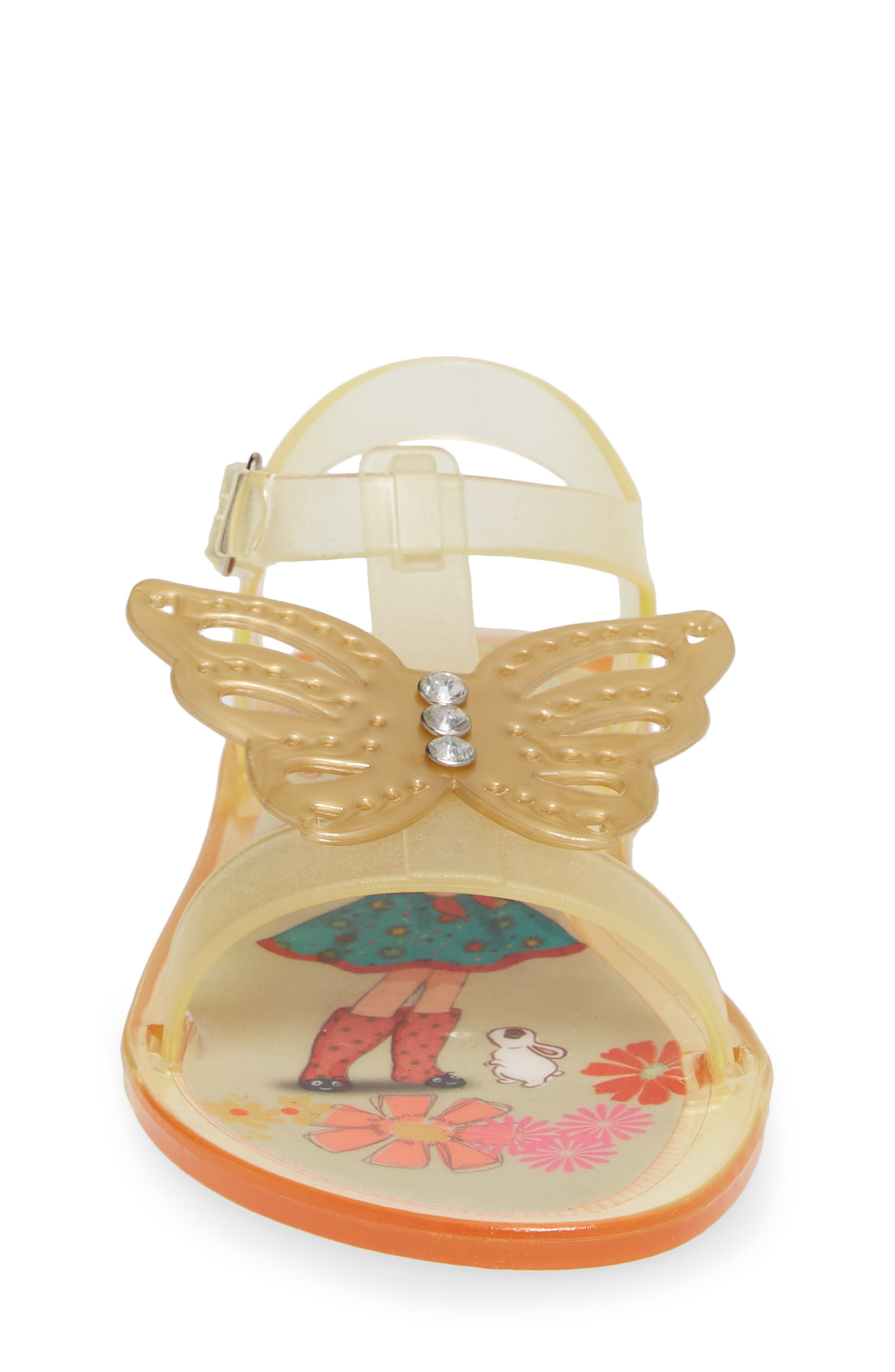 Willa Butterfly Jelly Sandal,                             Alternate thumbnail 4, color,                             710