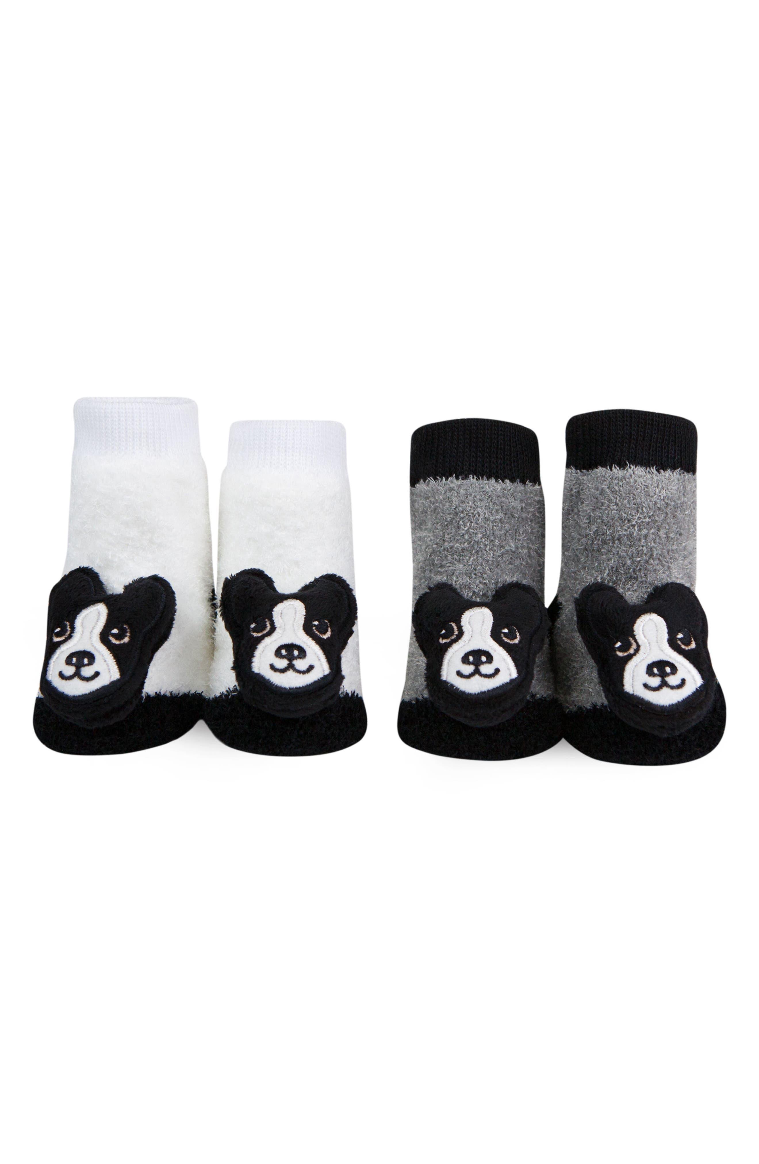 2-Pack Boston Terrier Rattle Socks,                             Alternate thumbnail 4, color,                             BLACK/ WHITE