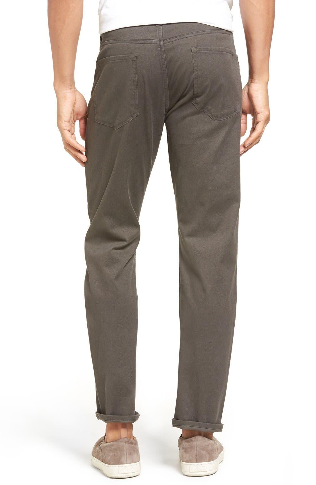 Soho Slim Fit Five-Pocket Pants,                             Alternate thumbnail 4, color,                             GREY