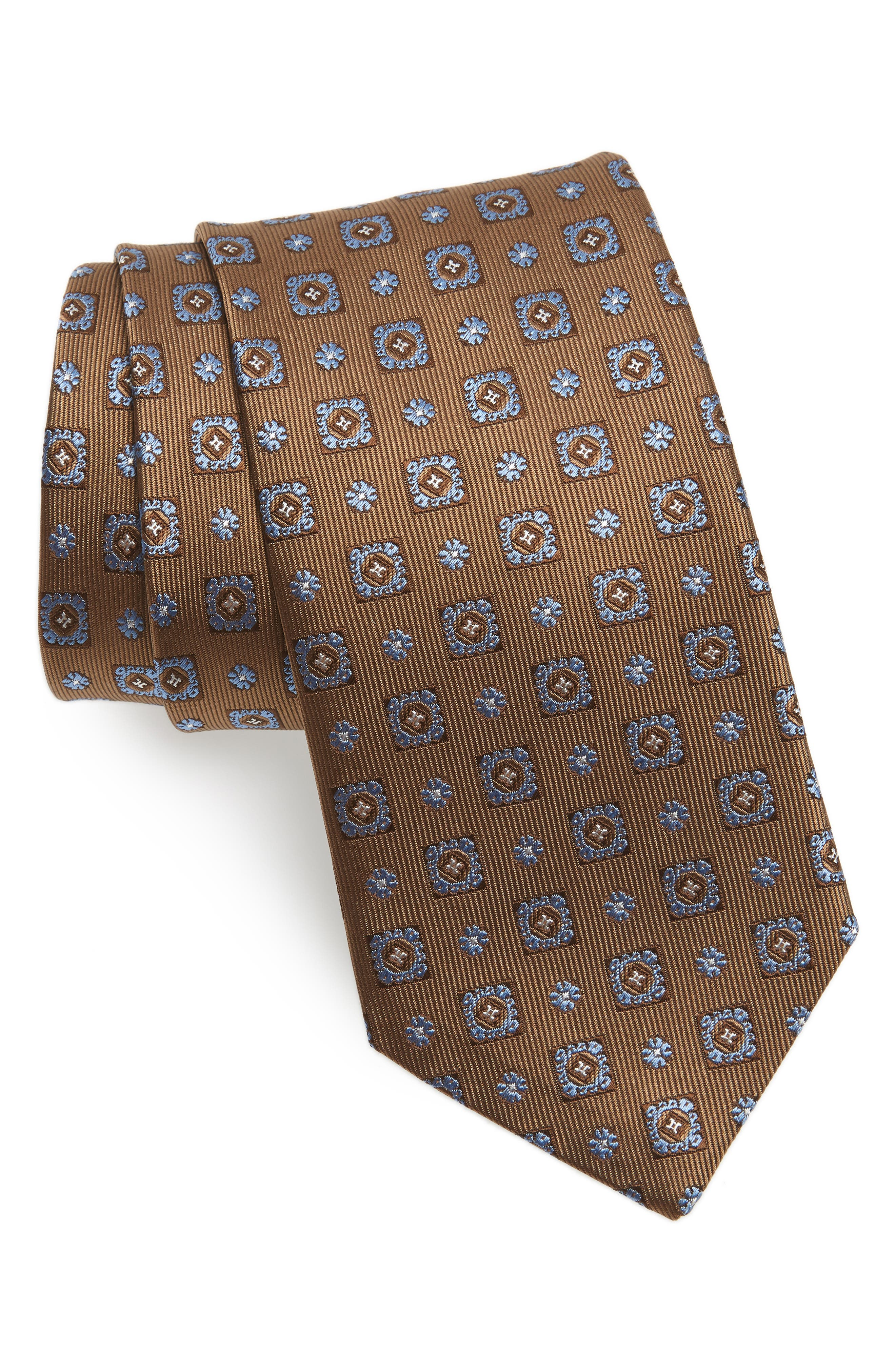 Medallion Silk Tie,                             Main thumbnail 1, color,                             212