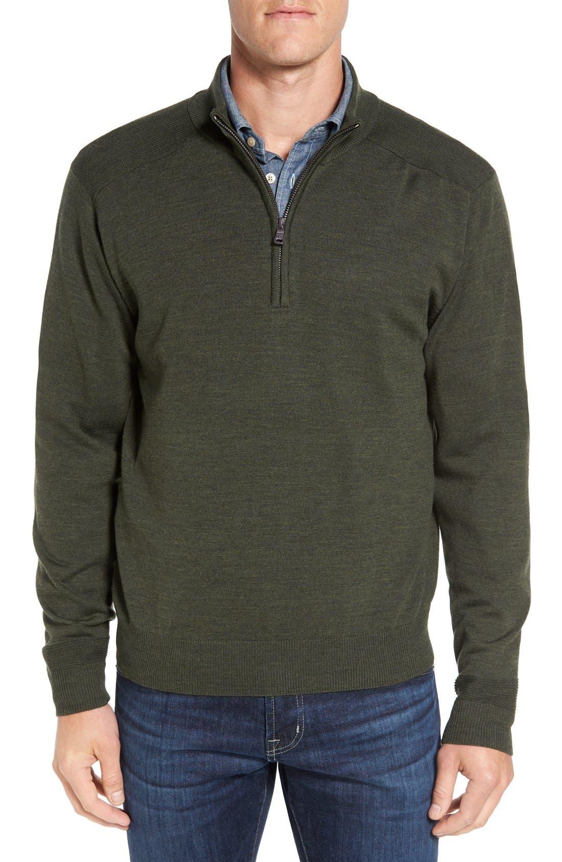 Douglas Quarter Zip Wool Blend Sweater,                             Main thumbnail 3, color,