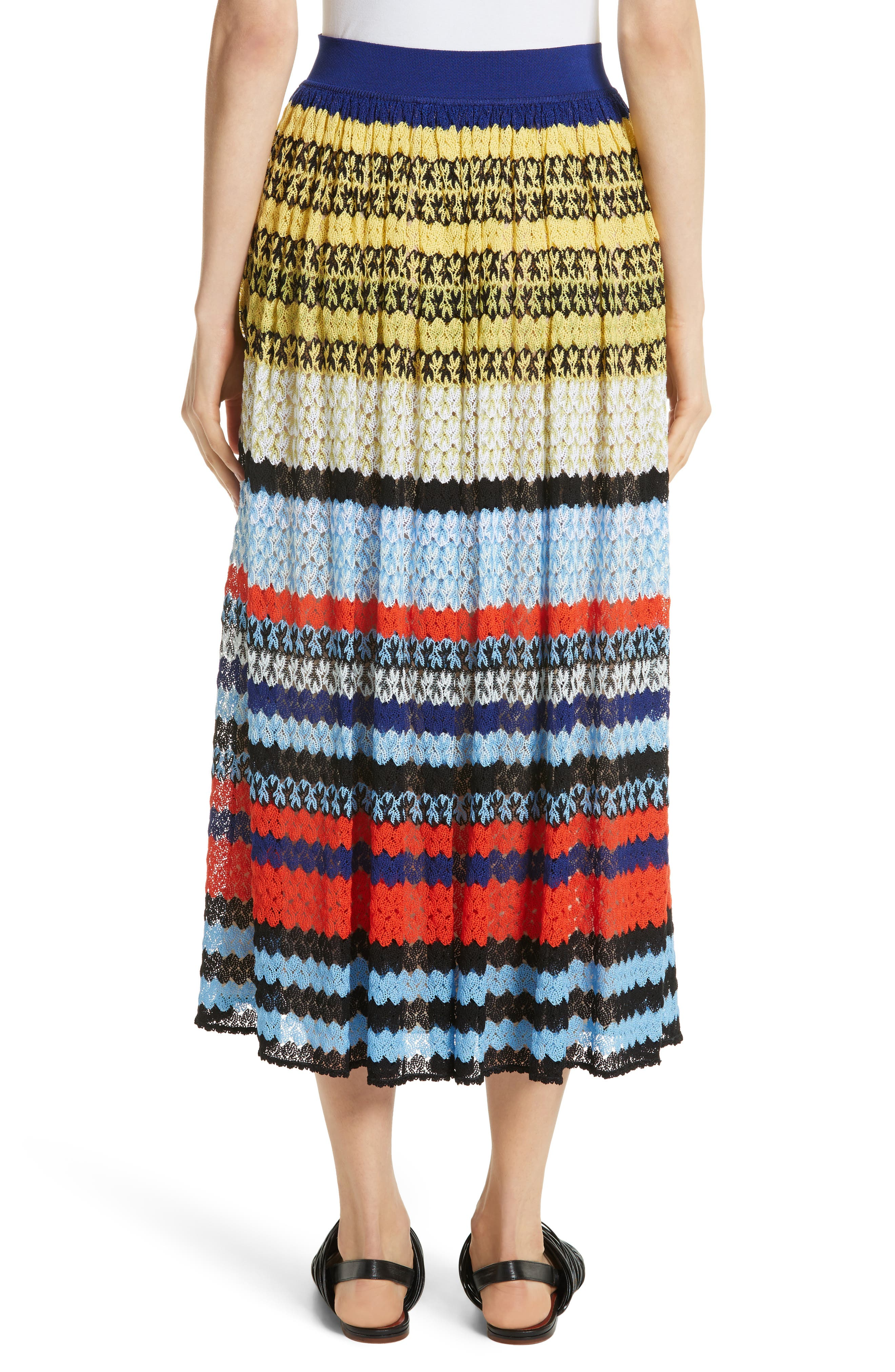 Stripe Knit Midi Skirt,                             Alternate thumbnail 2, color,                             480