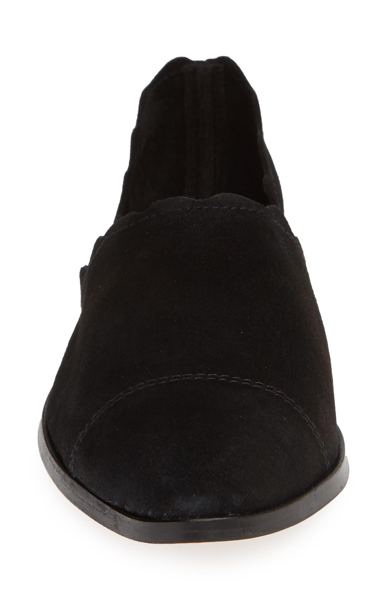 Georgette d'Orsay Flat,                             Alternate thumbnail 4, color,                             BLACK SUEDE