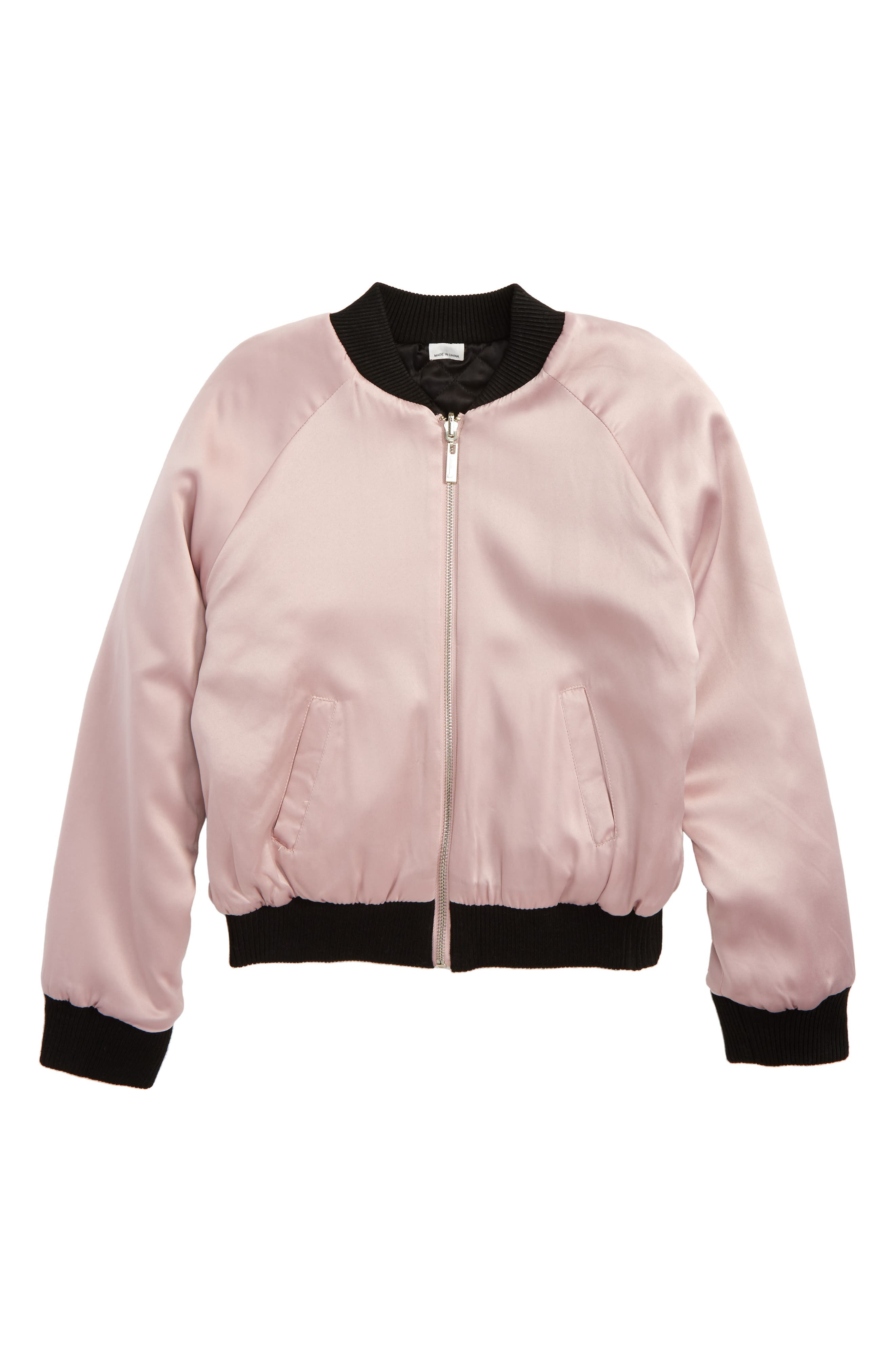 Embroidered Reversible Bomber Jacket,                             Main thumbnail 1, color,                             008
