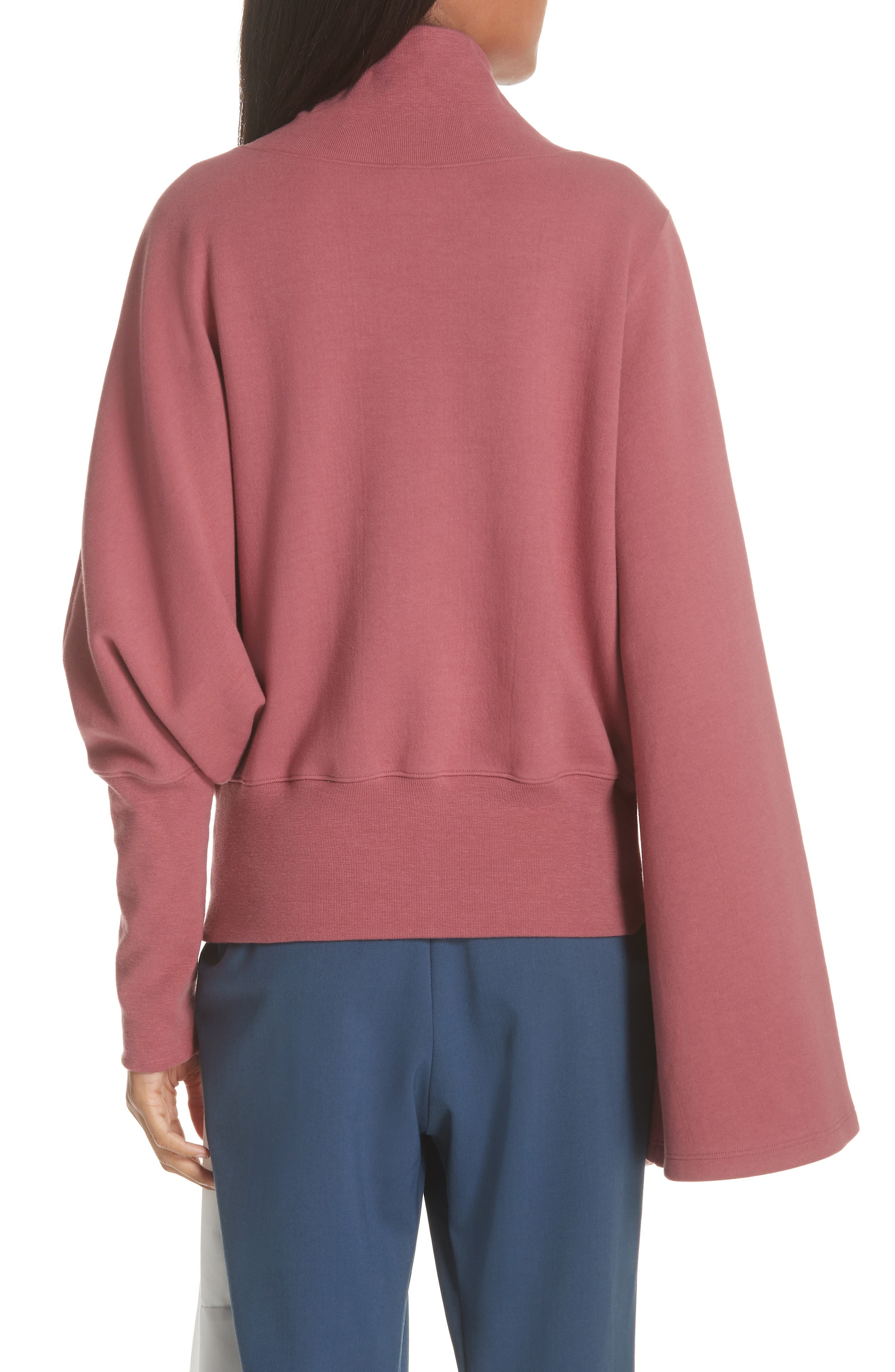 Unbalanced Sweatshirt,                             Alternate thumbnail 2, color,                             BURGUNDY