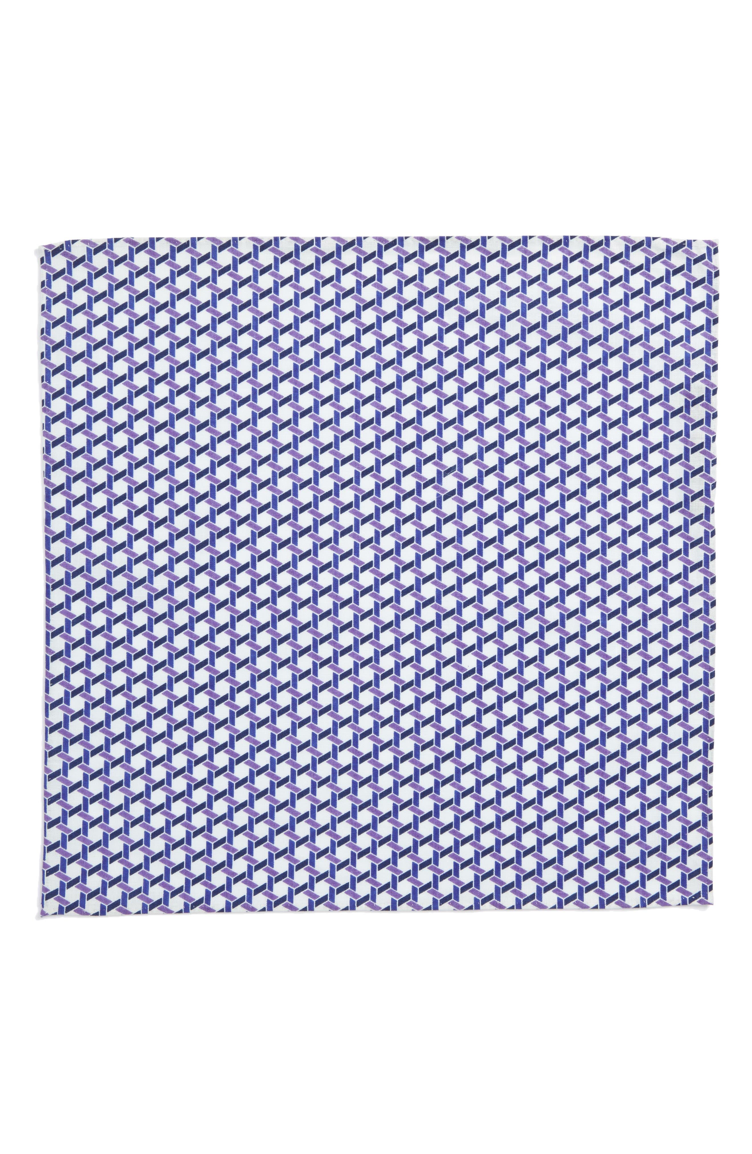 Gallo Geometric Pocket Square,                             Alternate thumbnail 2, color,                             500
