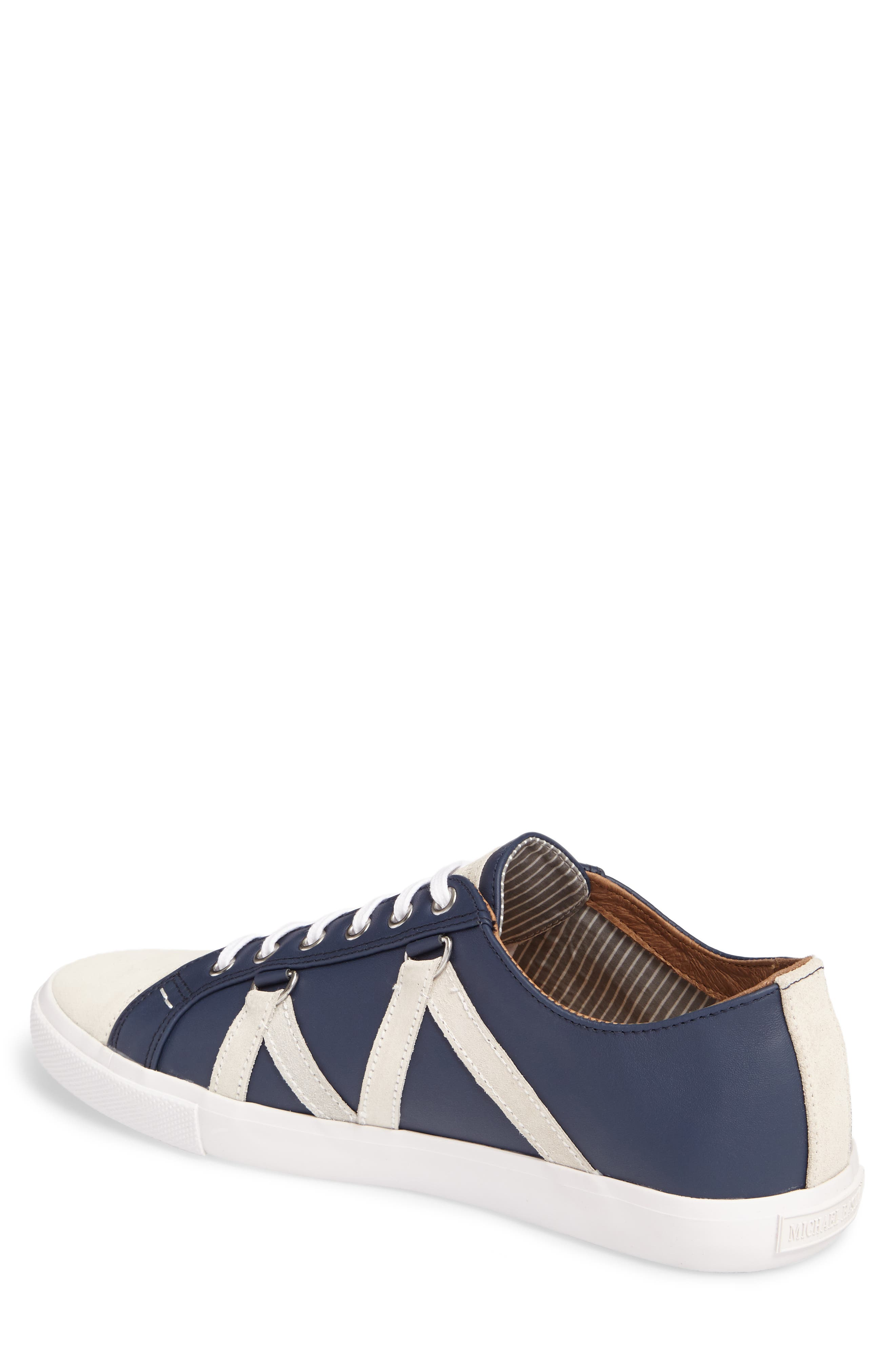 Signature Sneaker,                             Alternate thumbnail 2, color,                             NAVY LEATHER