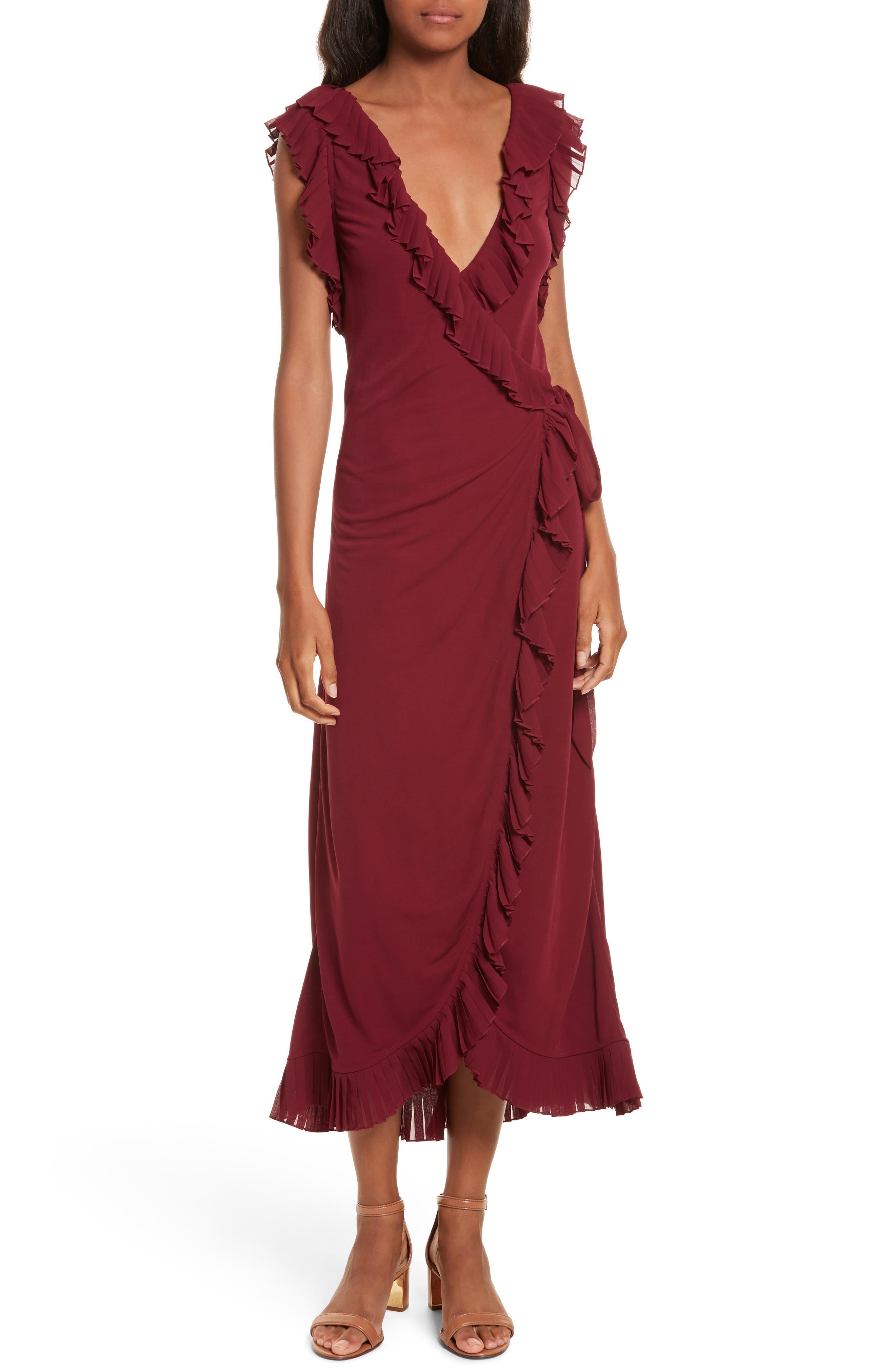 Whitney Wrap Midi Dress,                             Main thumbnail 1, color,