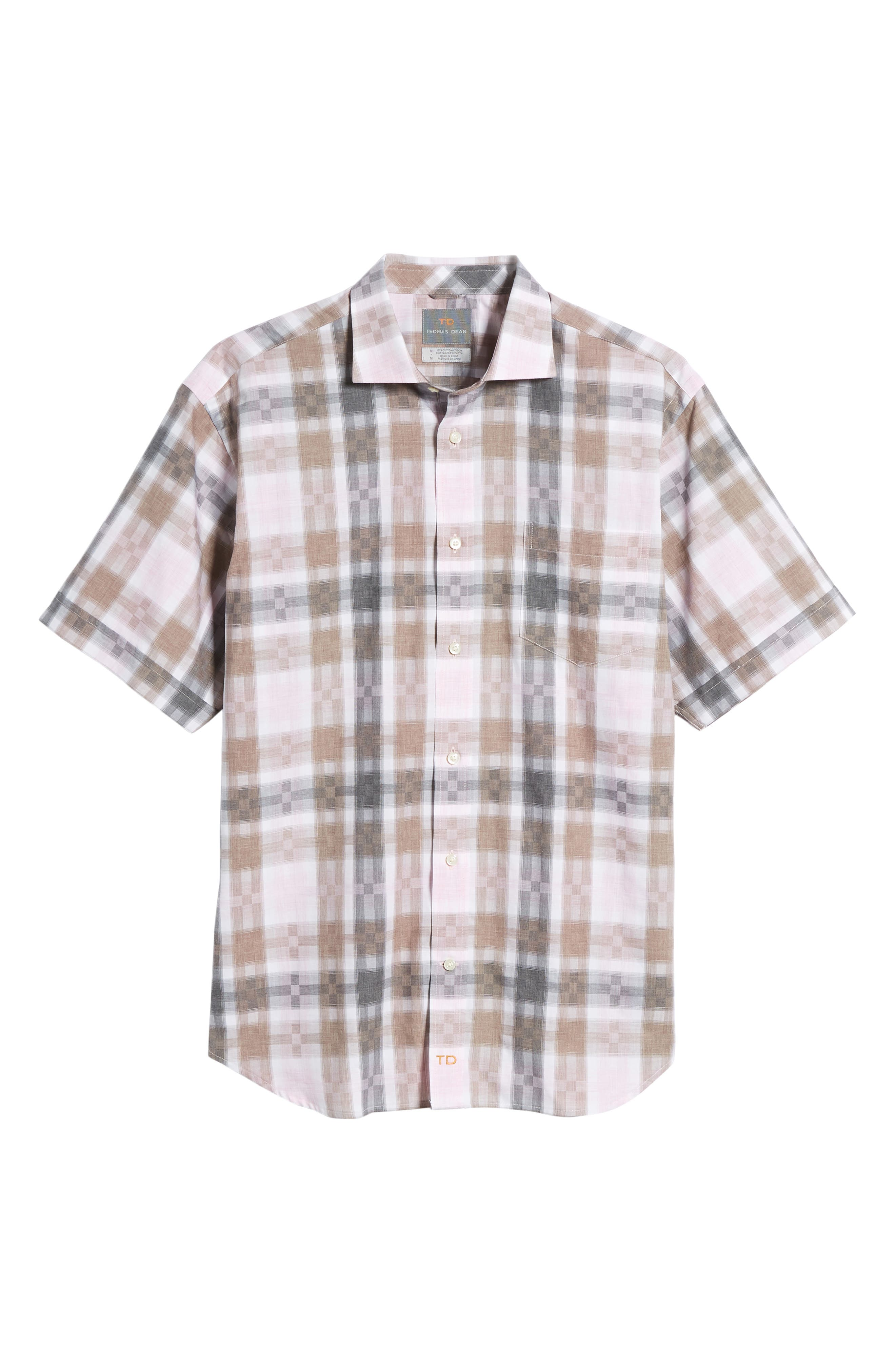 Regular Fit Check Sport Shirt,                             Alternate thumbnail 6, color,