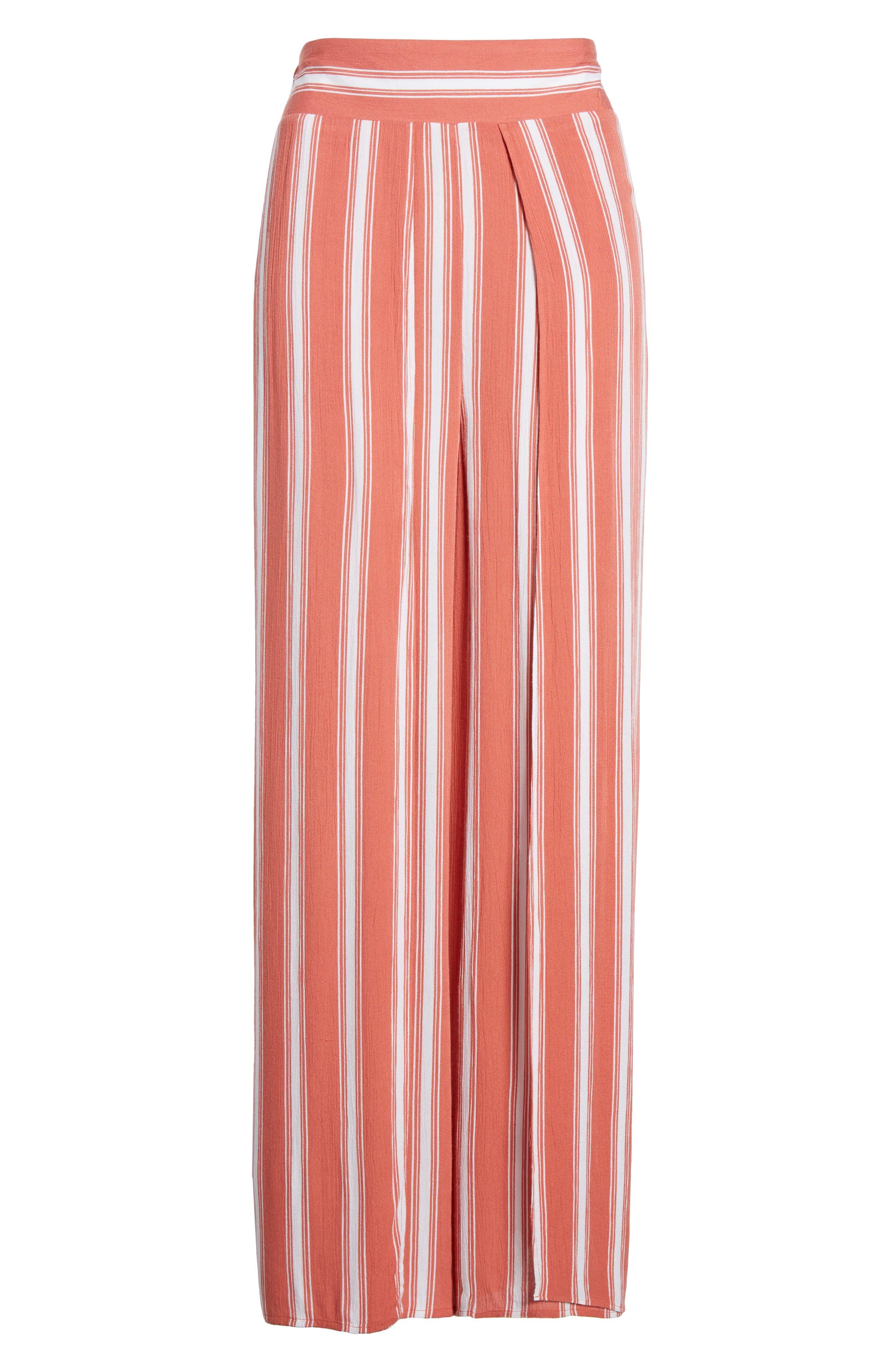 Stripe Split Leg Walkthrough Pants,                             Alternate thumbnail 6, color,                             950