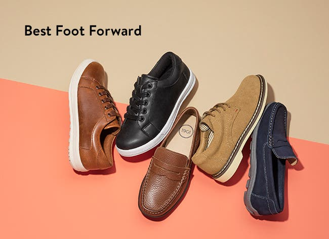 Best foot forward, dress shoes for kids.