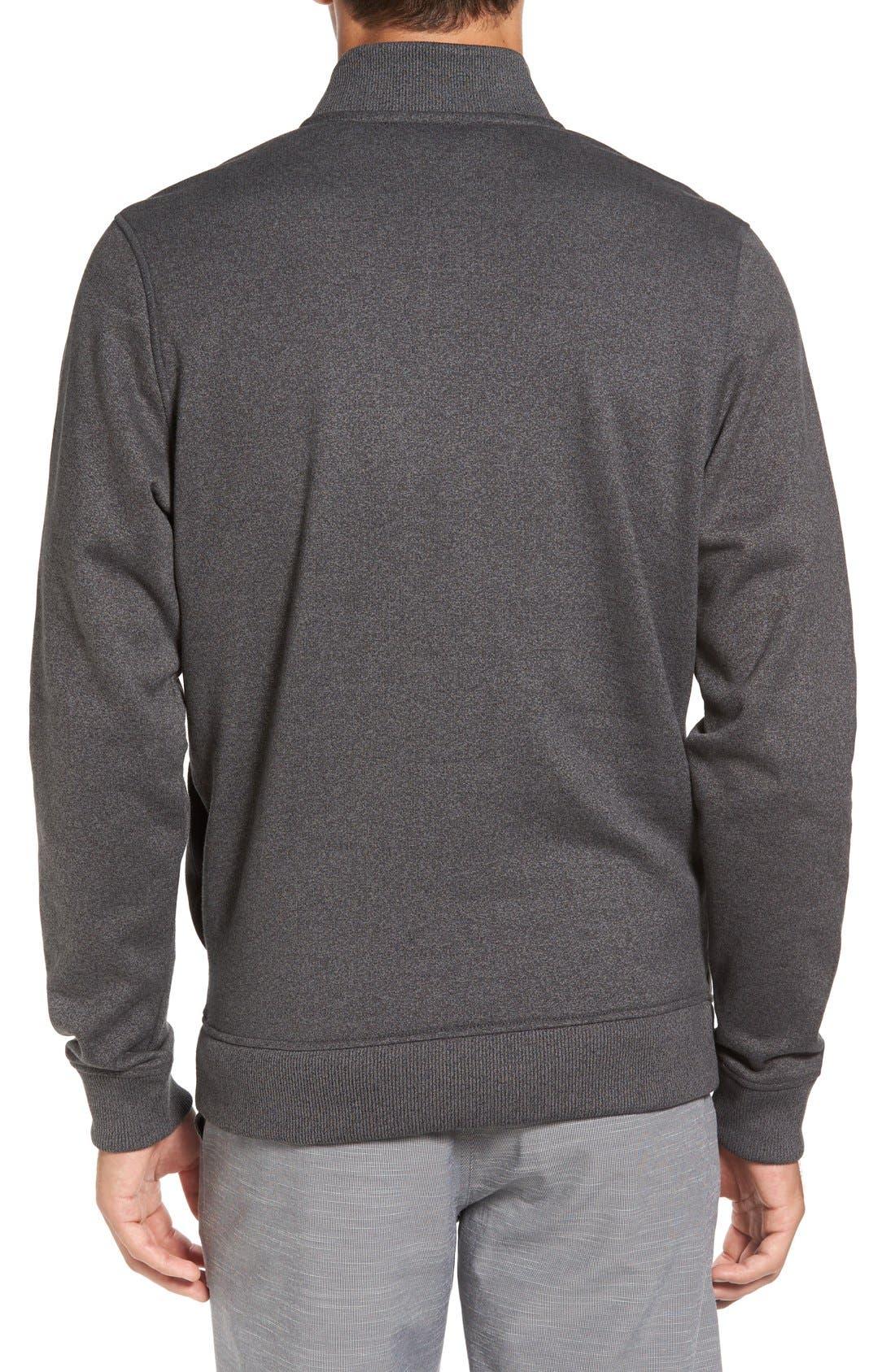 'Wall' Mock Neck Pullover,                             Alternate thumbnail 2, color,                             QUIET SHADE/ BLACK