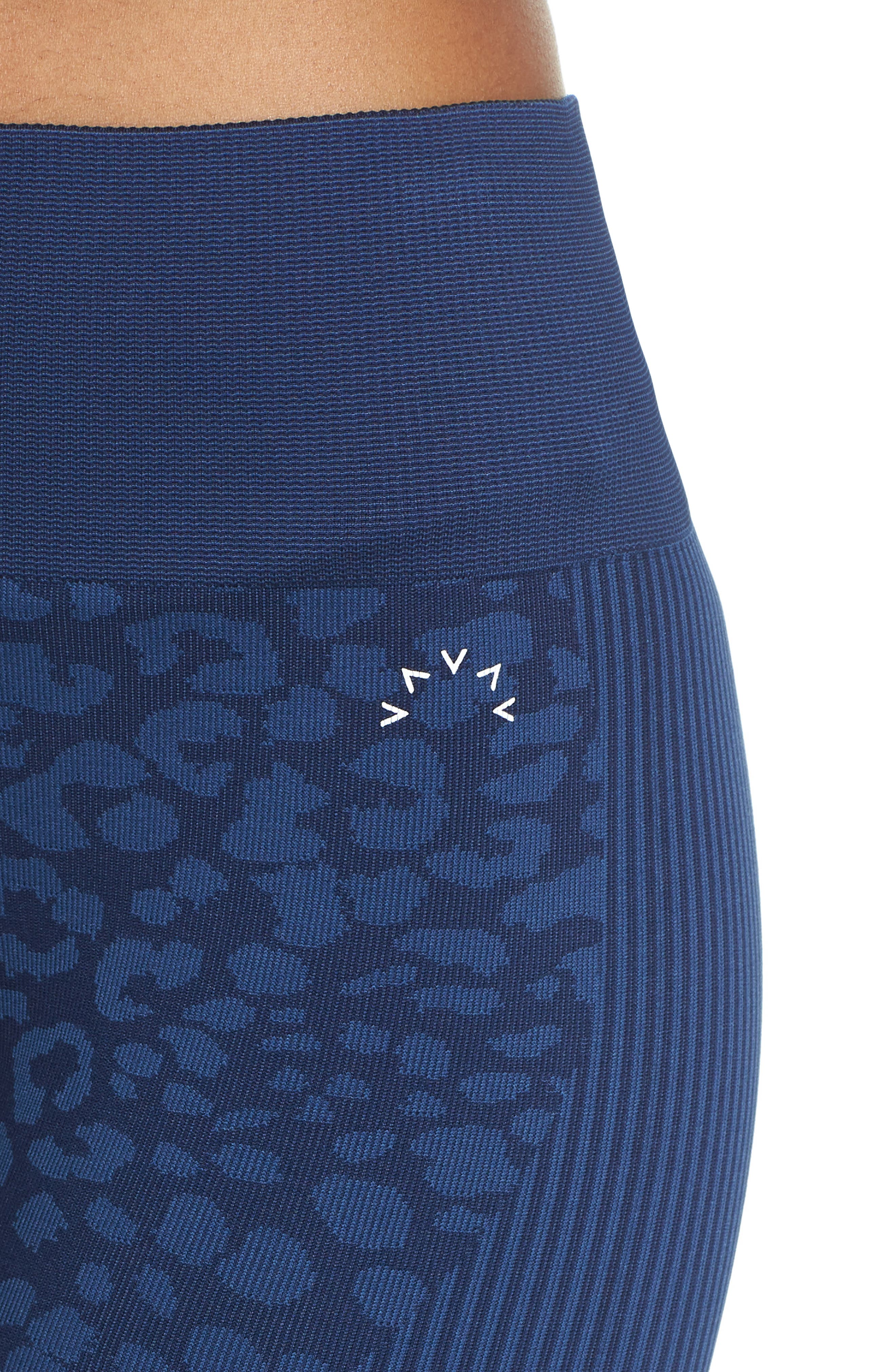 Quincy Seamless Leggings,                             Alternate thumbnail 4, color,                             NAVY LEOPARD