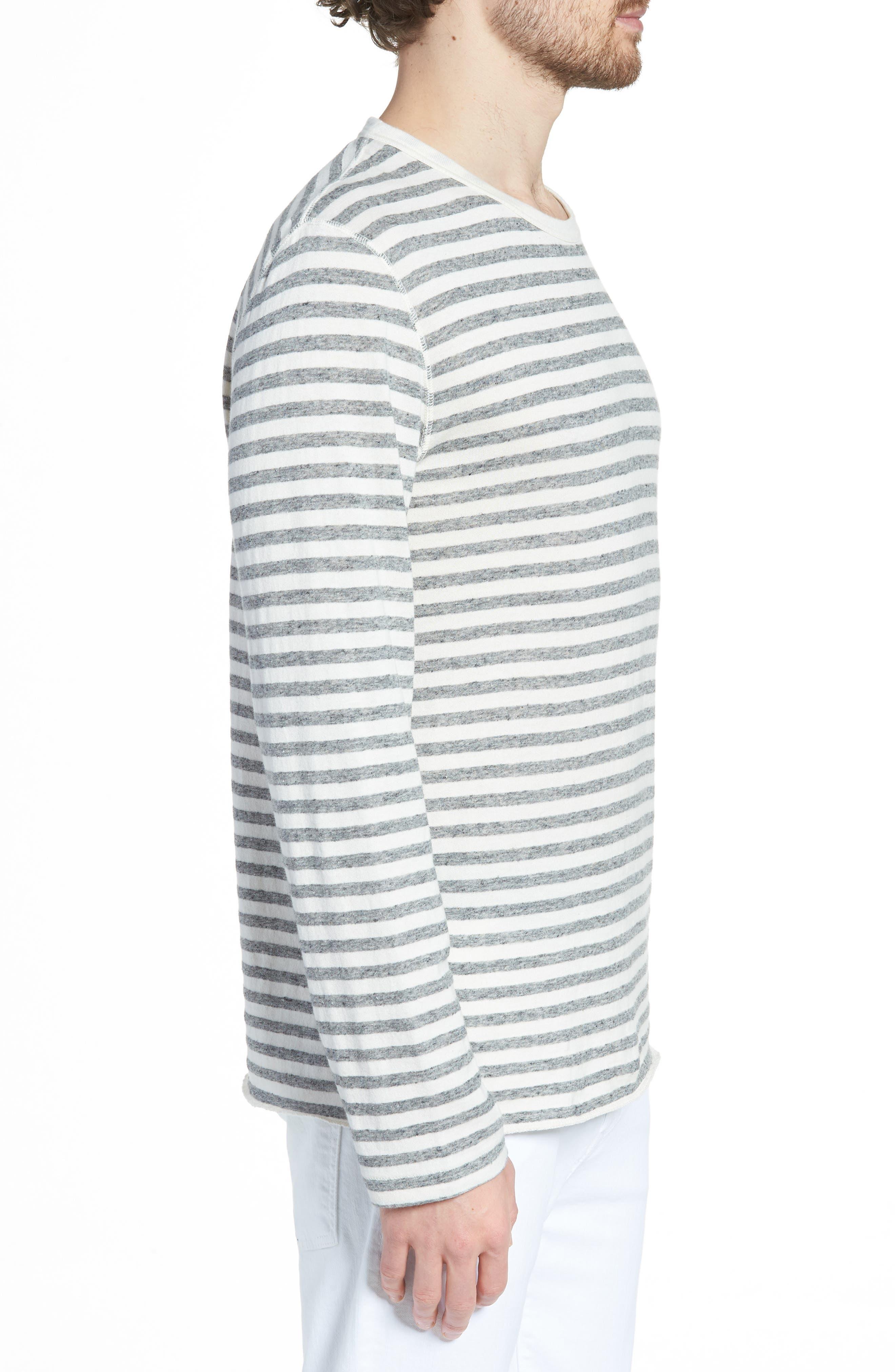 Stripe Long Sleeve Shirt,                             Alternate thumbnail 3, color,