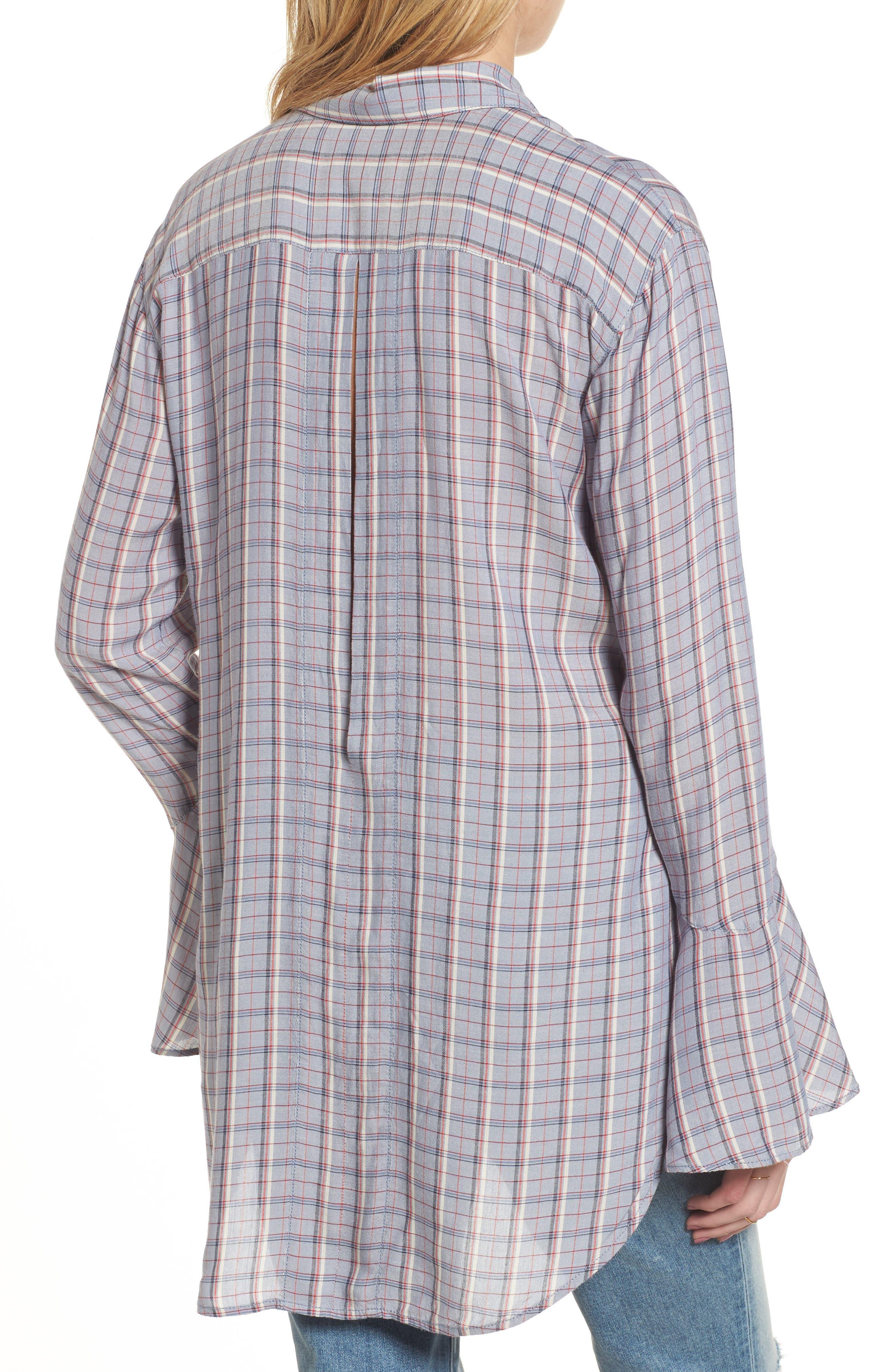Plaid Drapey Shirt,                             Alternate thumbnail 2, color,                             400