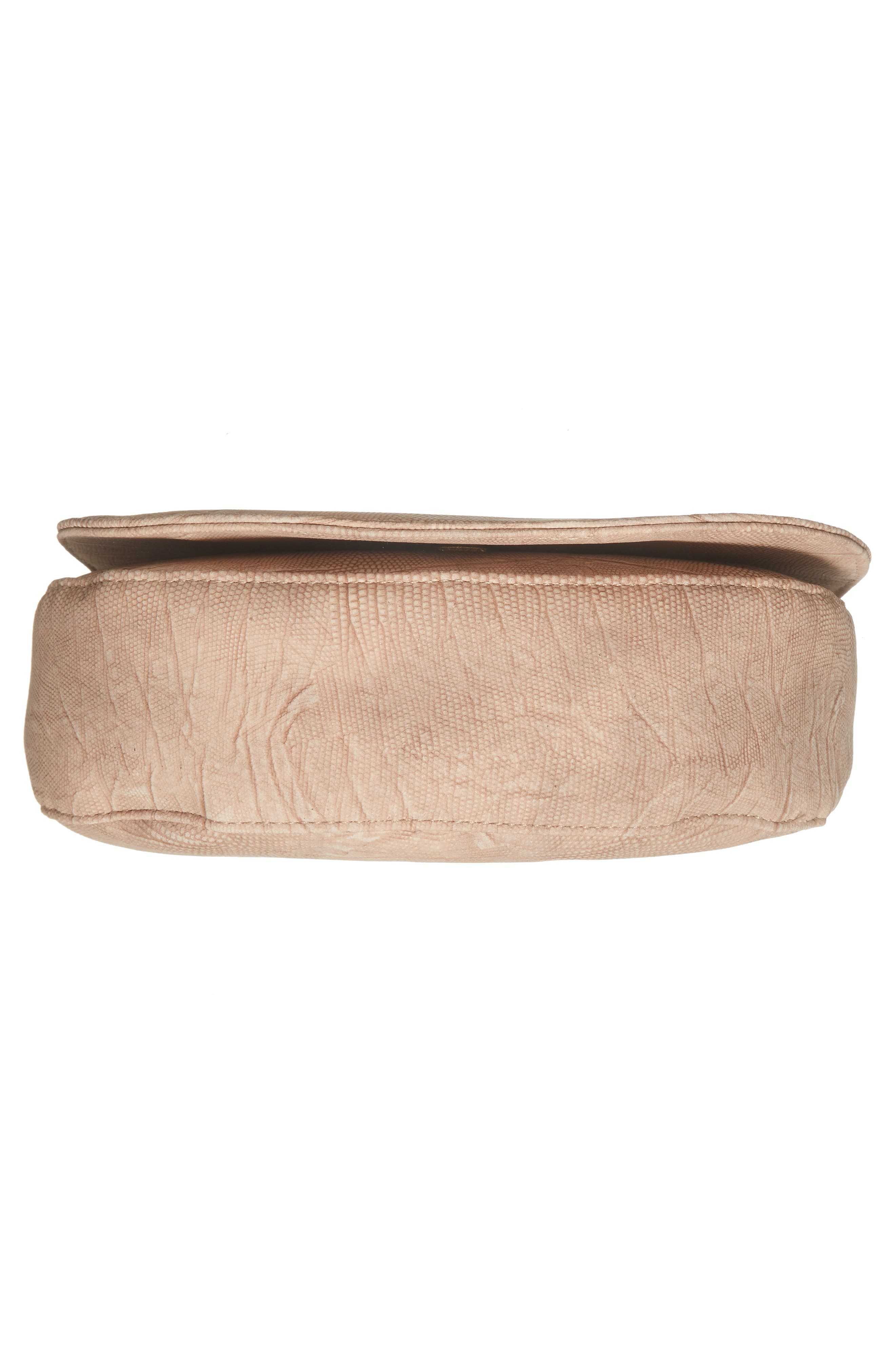 Livvy Faux Leather Crossbody Saddle Bag,                             Alternate thumbnail 17, color,