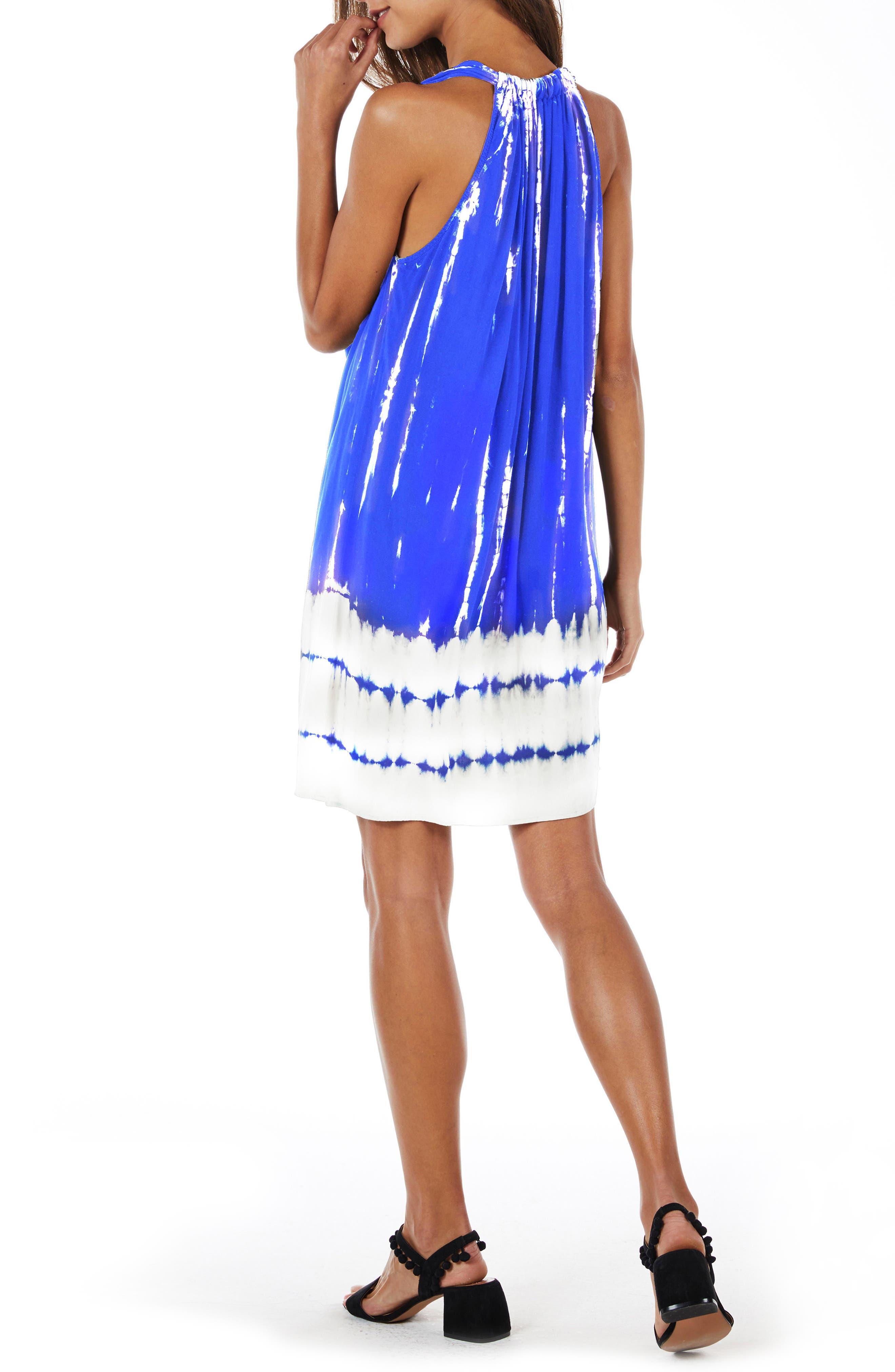 Tie Dye A-Line Dress,                             Alternate thumbnail 3, color,