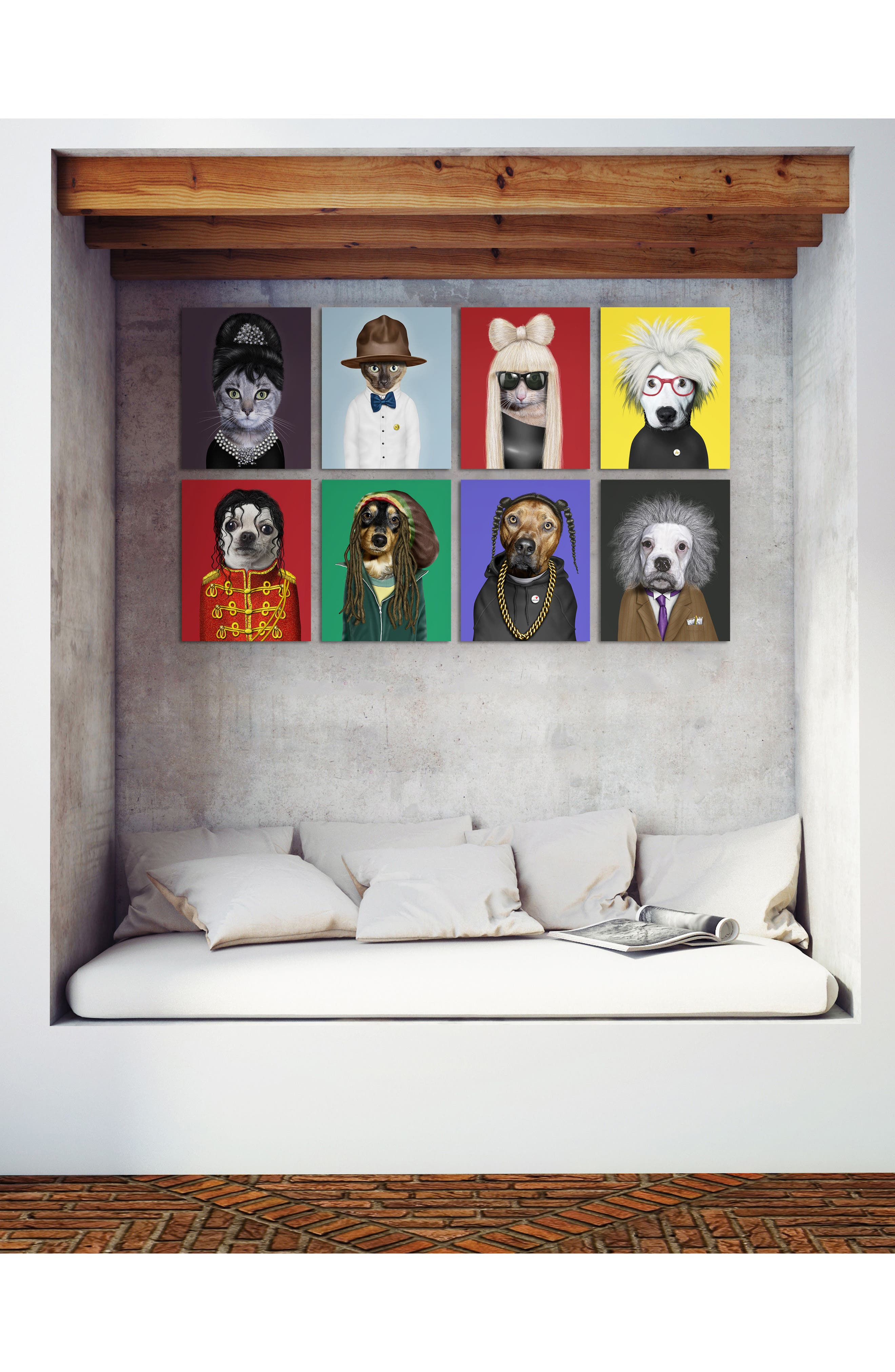 'Pets Rock<sup>™</sup> - Pop' Giclée Wall Art,                             Alternate thumbnail 3, color,
