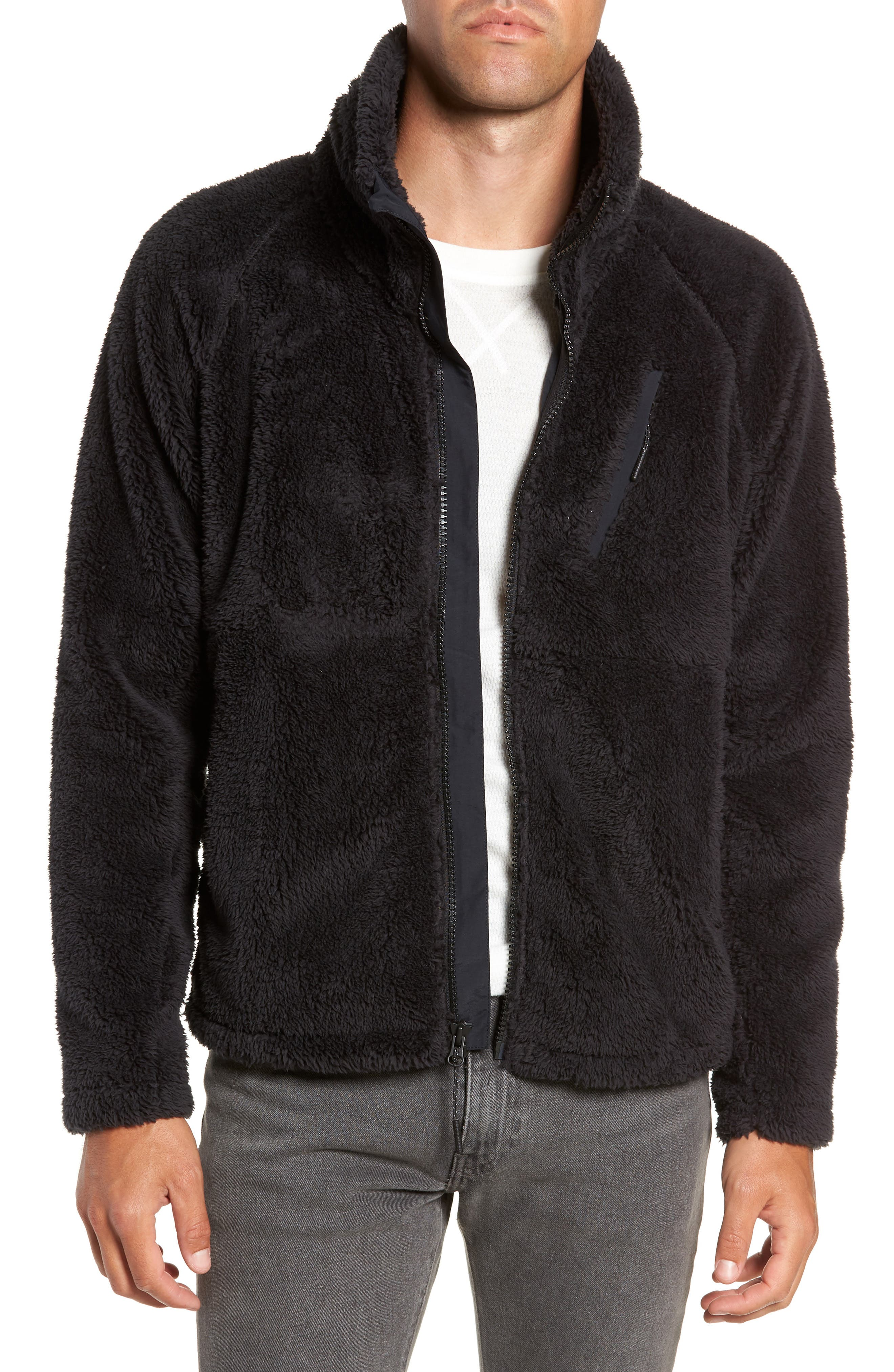 Breakheart Zip Fleece Jacket,                             Main thumbnail 1, color,                             001