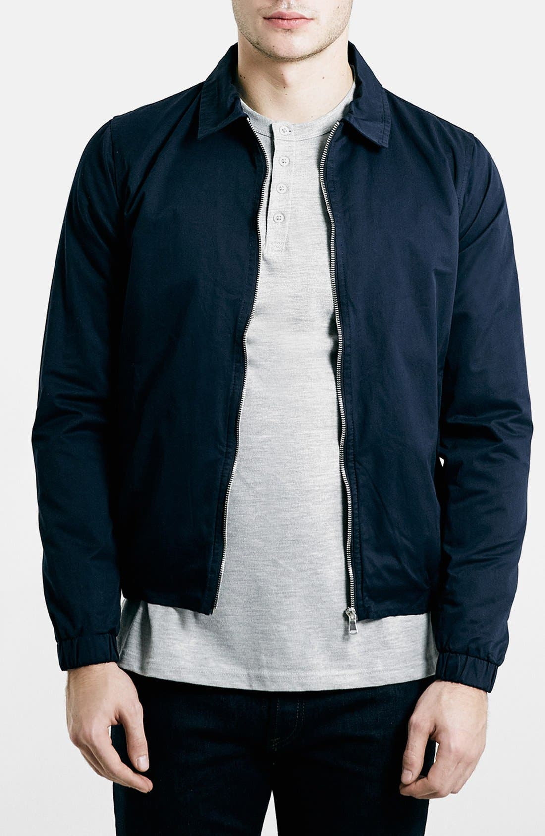 Navy Harrington Jacket,                             Main thumbnail 1, color,                             410