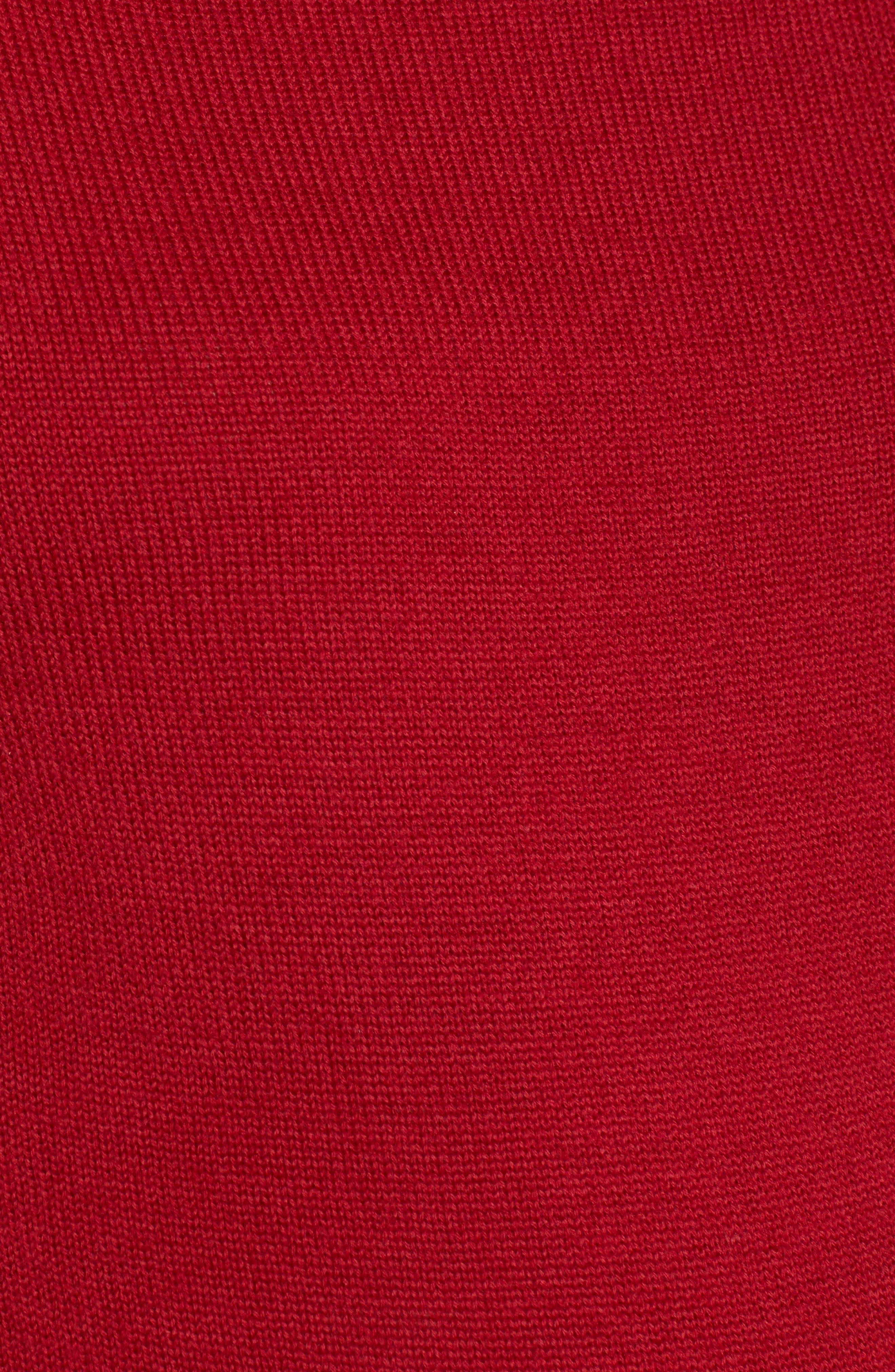 Tessa Turtleneck Wool Maternity Sweater,                             Alternate thumbnail 5, color,                             CARDAMOM RED