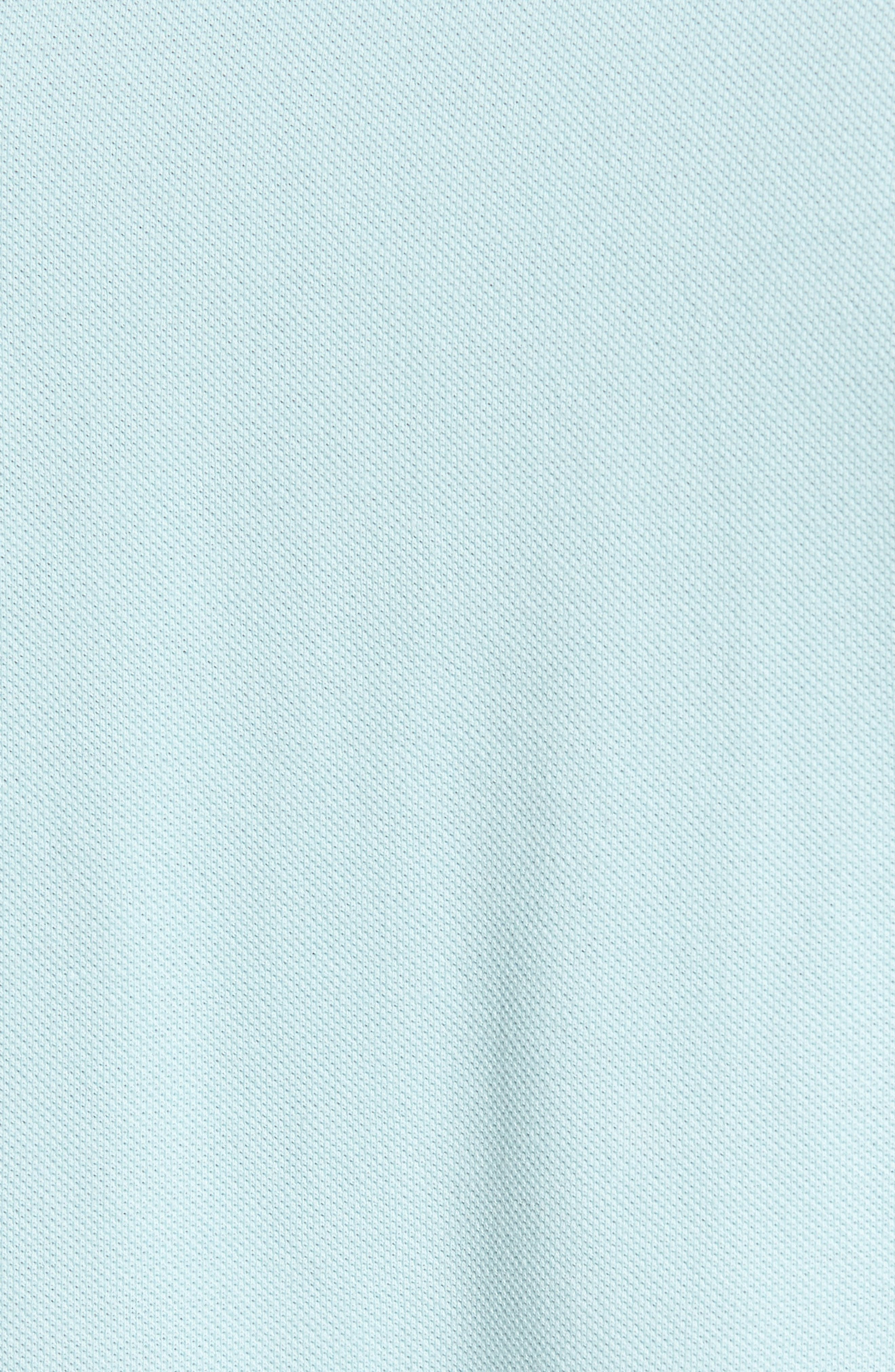 Contrast Cuff Piqué Polo,                             Alternate thumbnail 5, color,                             FROSTED BLUE