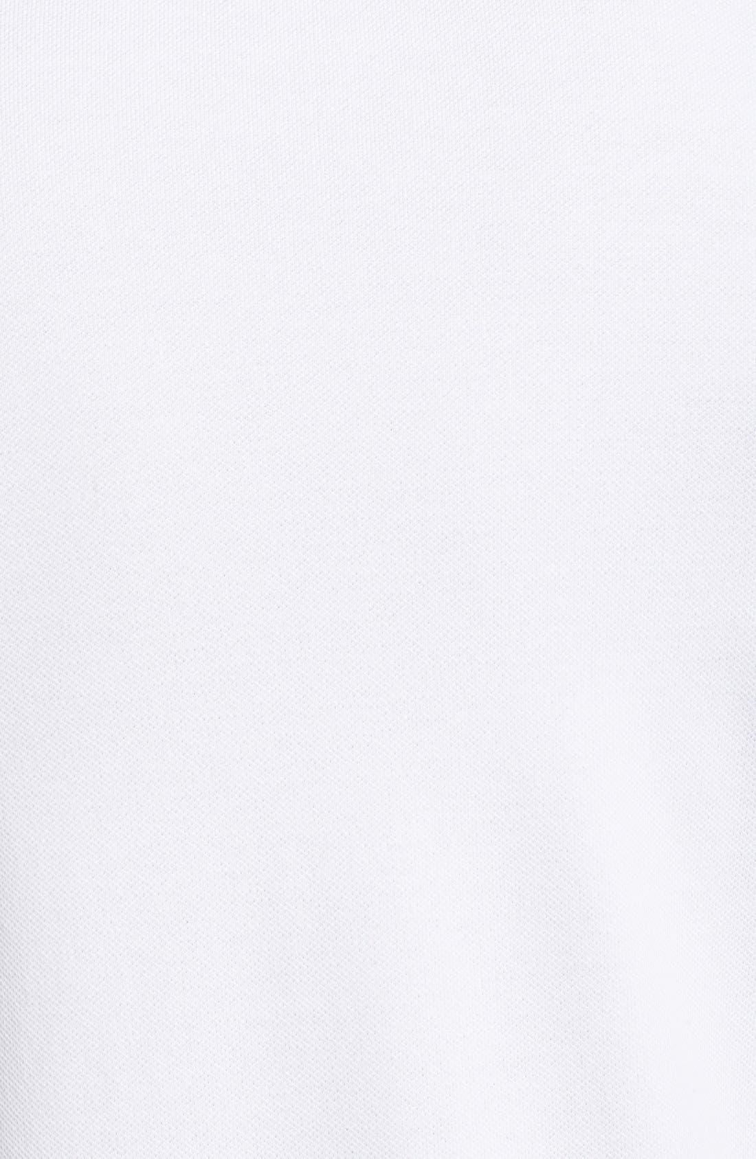 'Skipjack Micro Piqué' Stretch Cotton Polo,                             Alternate thumbnail 5, color,                             WHITE