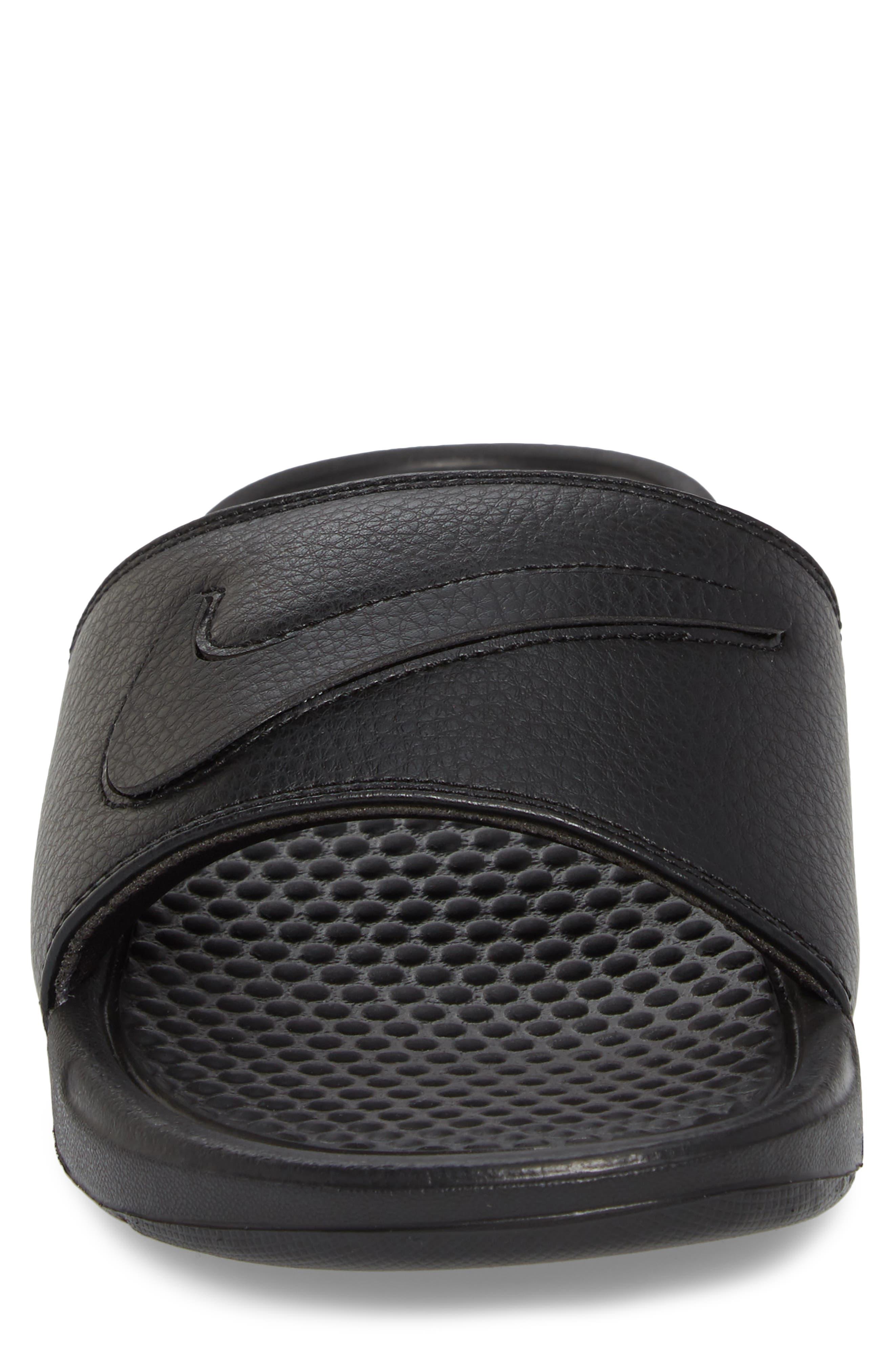 NIKE,                             Benassi JDI Customizable Slide Sandal,                             Alternate thumbnail 4, color,                             001