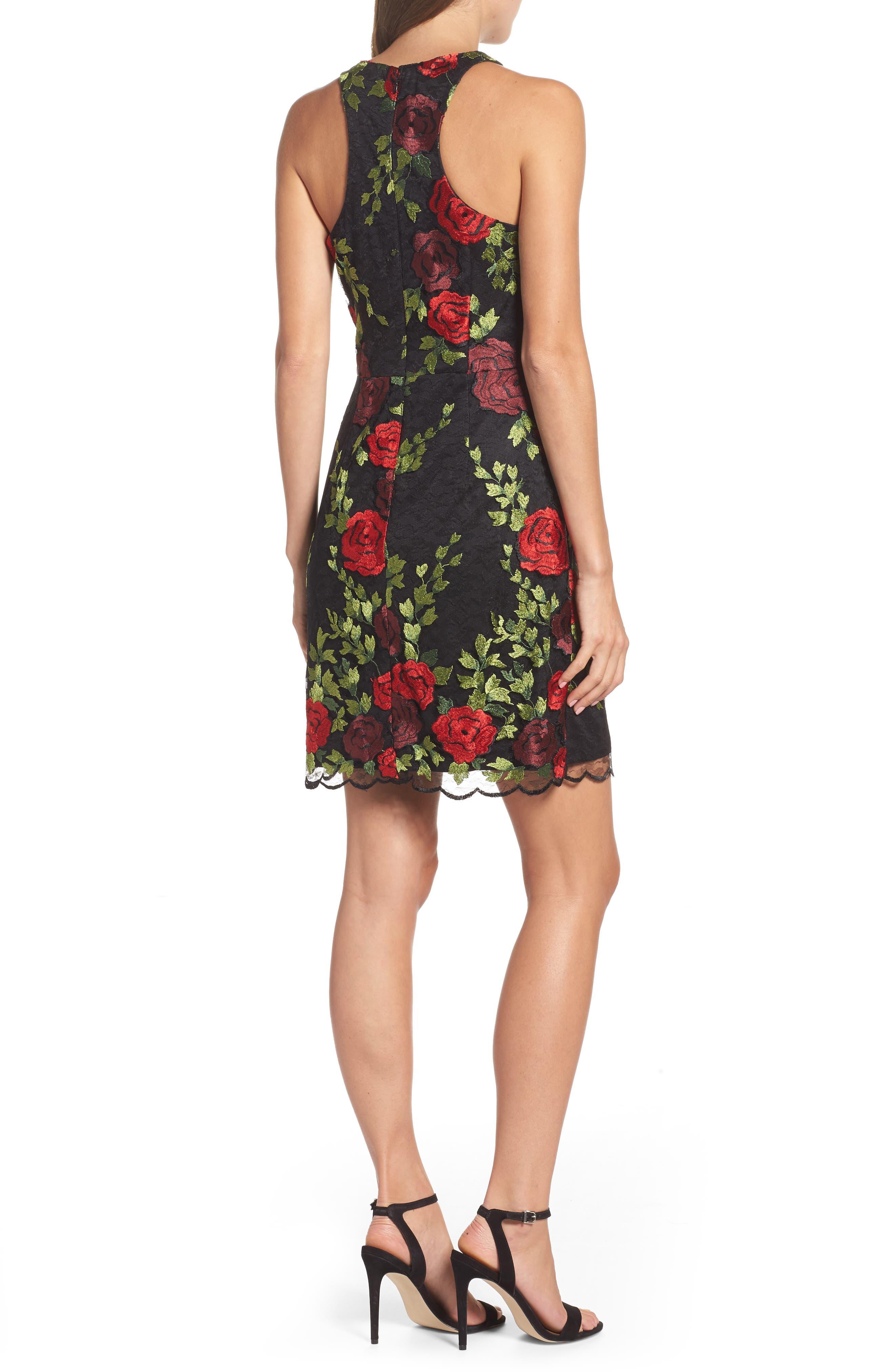 Lace Sheath Dress,                             Alternate thumbnail 2, color,                             007