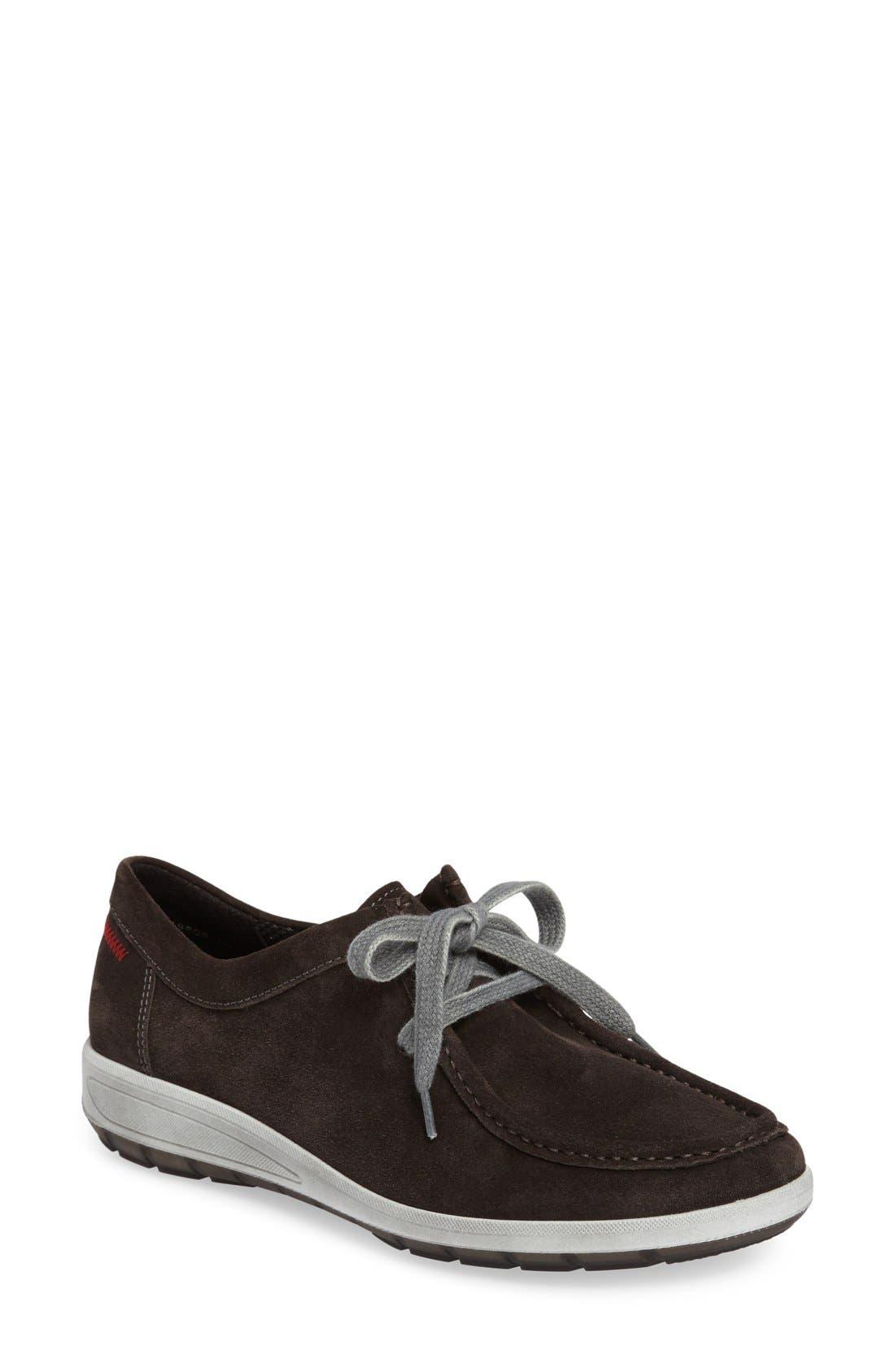 Trista Sneaker,                         Main,                         color, LAVA SUEDE