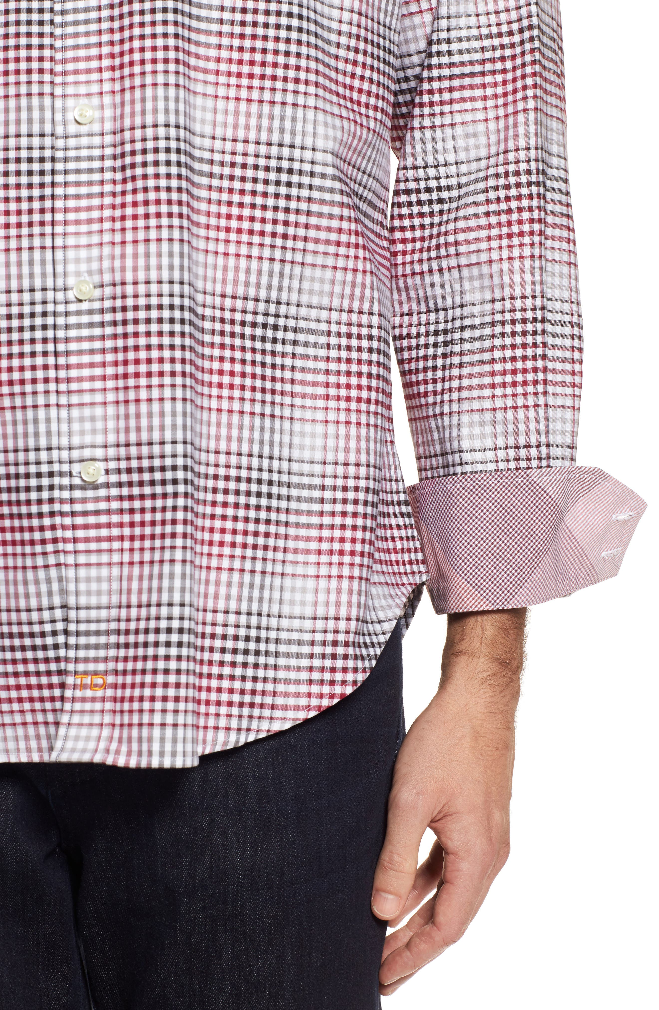Regular Fit Check Sport Shirt,                             Alternate thumbnail 4, color,