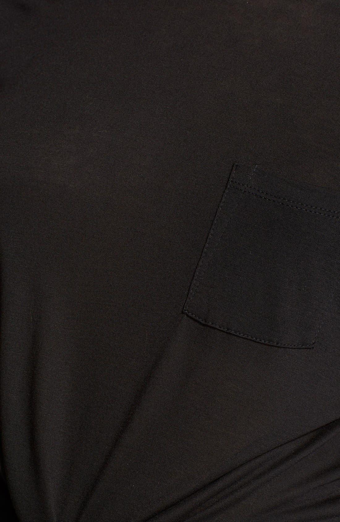 Long Sleeve Pocket Tee,                             Alternate thumbnail 4, color,                             001