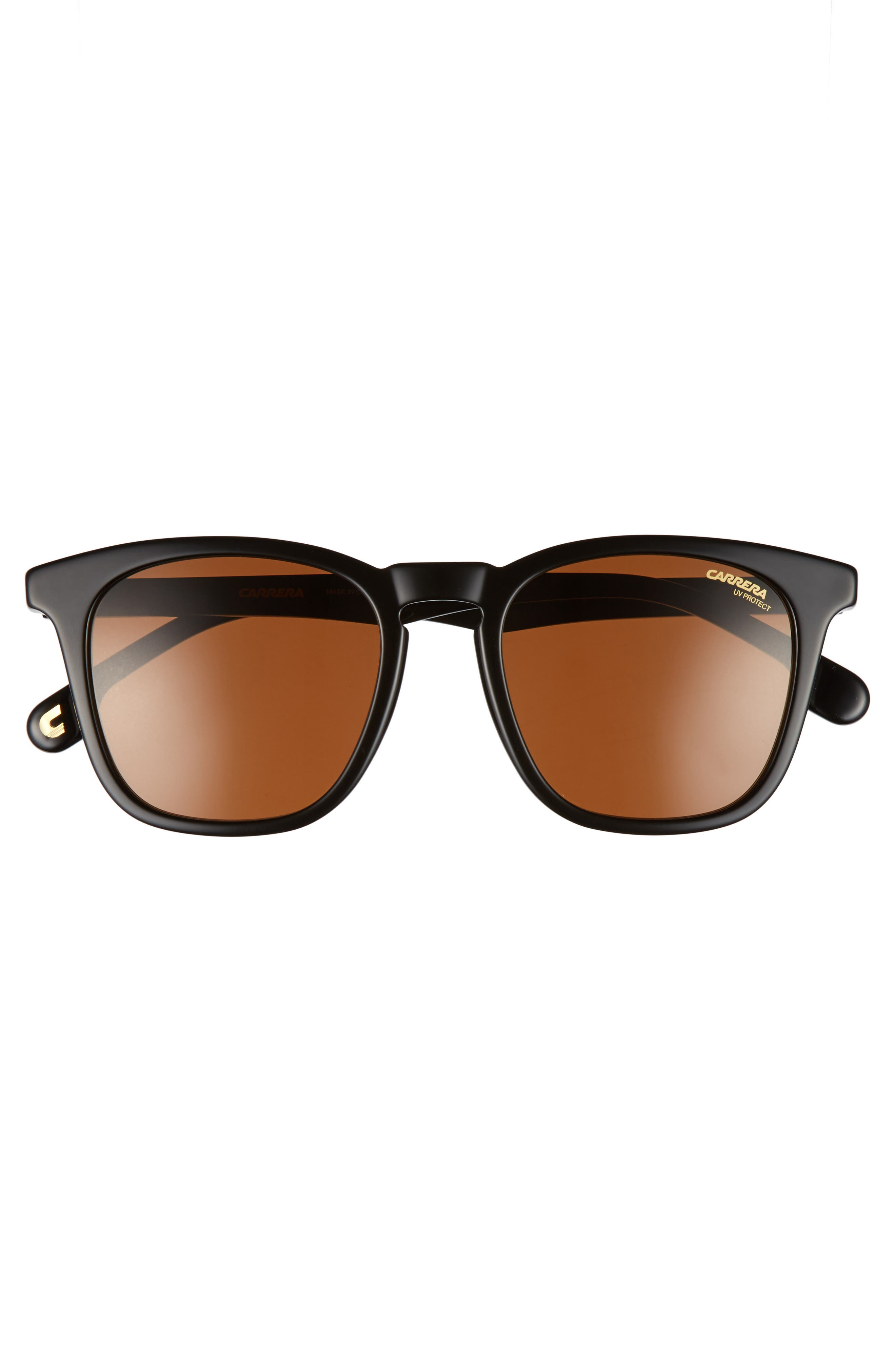 Carrera 143S 51mm Sunglasses,                             Alternate thumbnail 2, color,                             BLACK/ BROWN