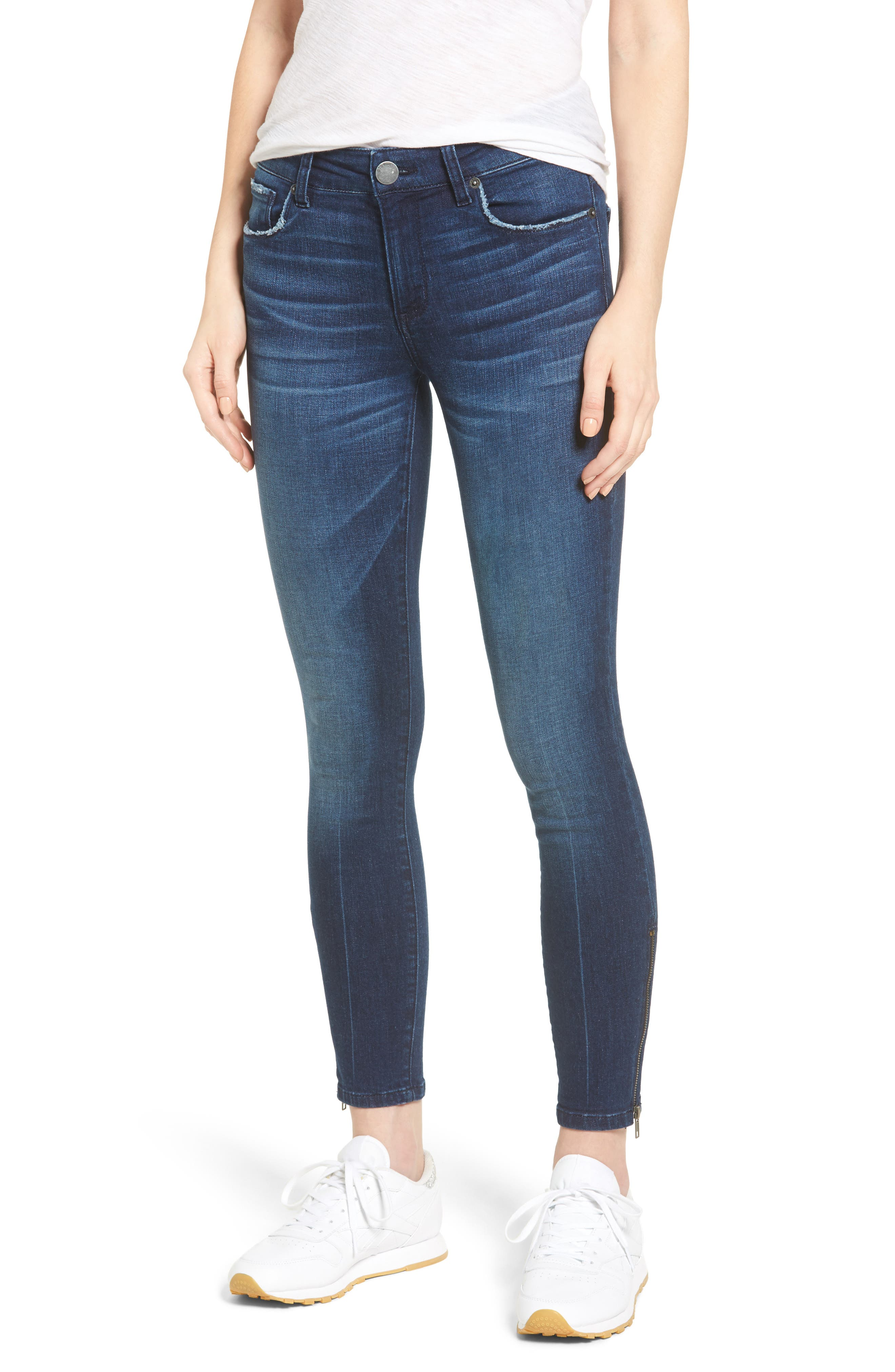 Emma Ankle Zip Skinny Jeans,                             Main thumbnail 1, color,                             400